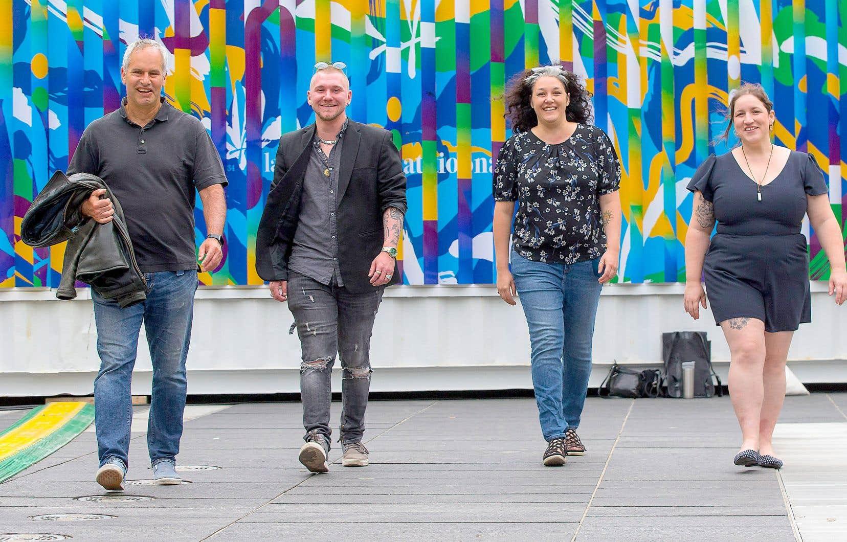 Mark Lazare, Liam Murphy, Jacynthe Plamondon-Émond et Dorothée Parent-Roy, l'équipe derrière Amplitude distribution