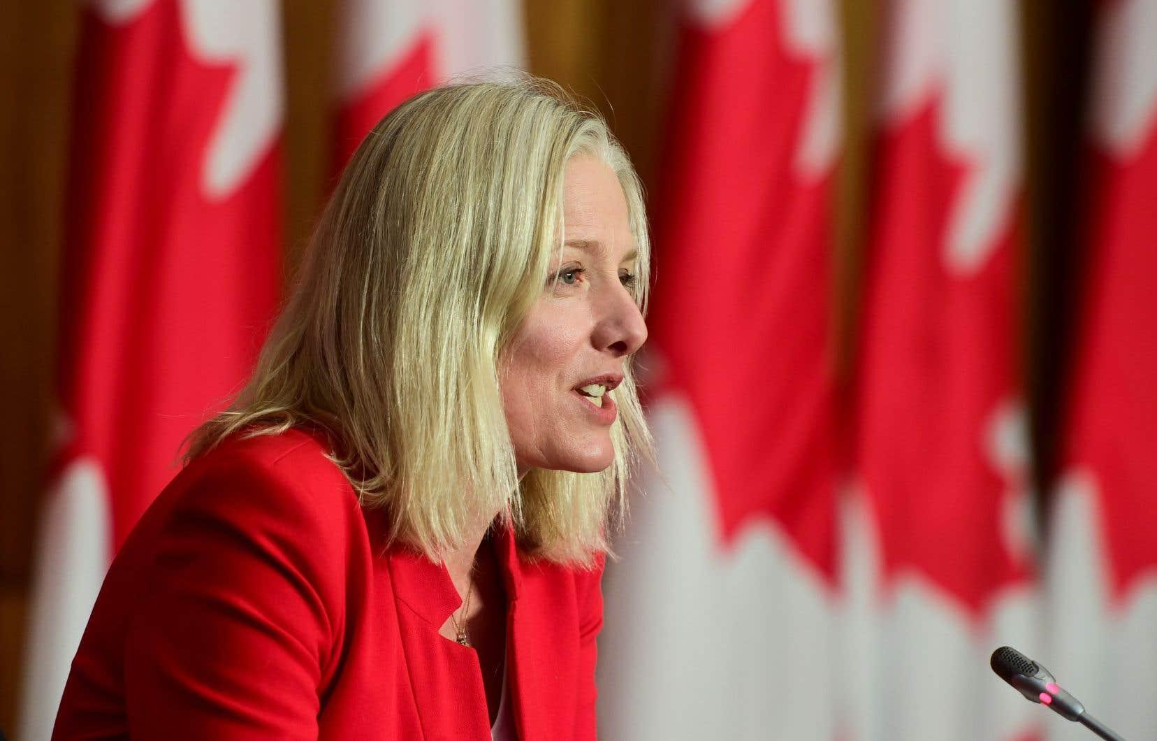 La ministre Catherine McKenna avait été élue une première fois aux élections fédérales de 2015.