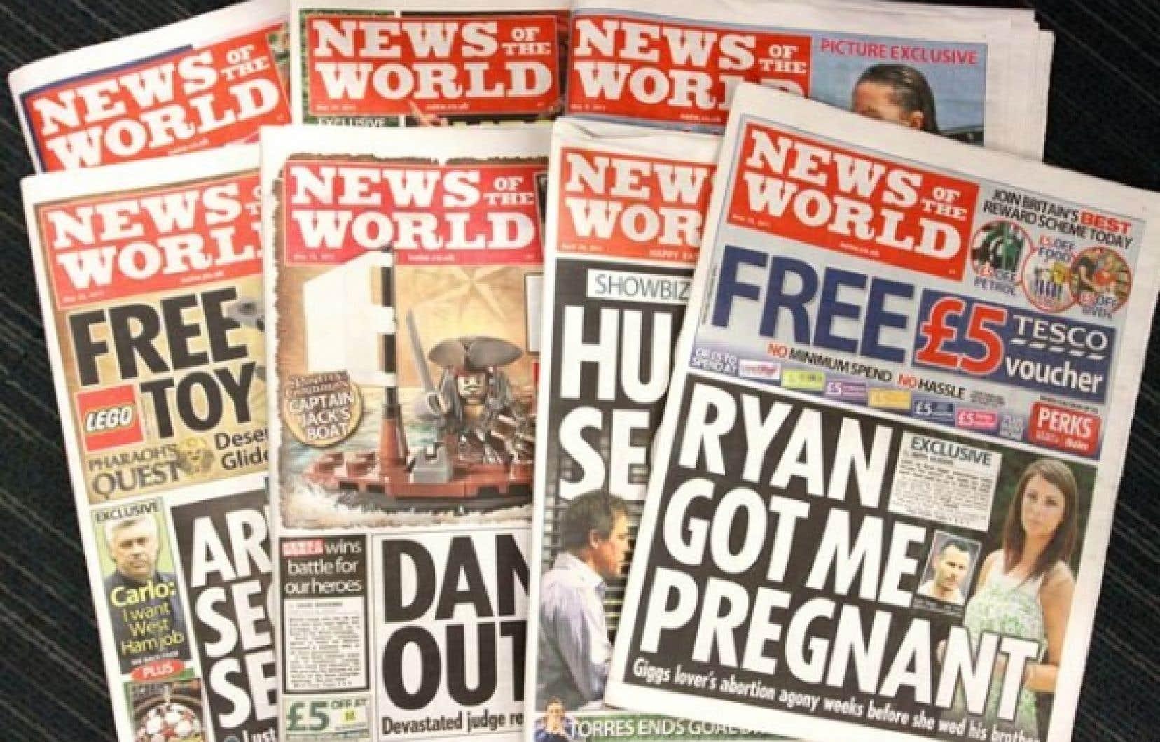 Le tabloid «News of the World», déjà très contesté pour son sensationnalisme, s'effondre sous le poids des scandales. <br />