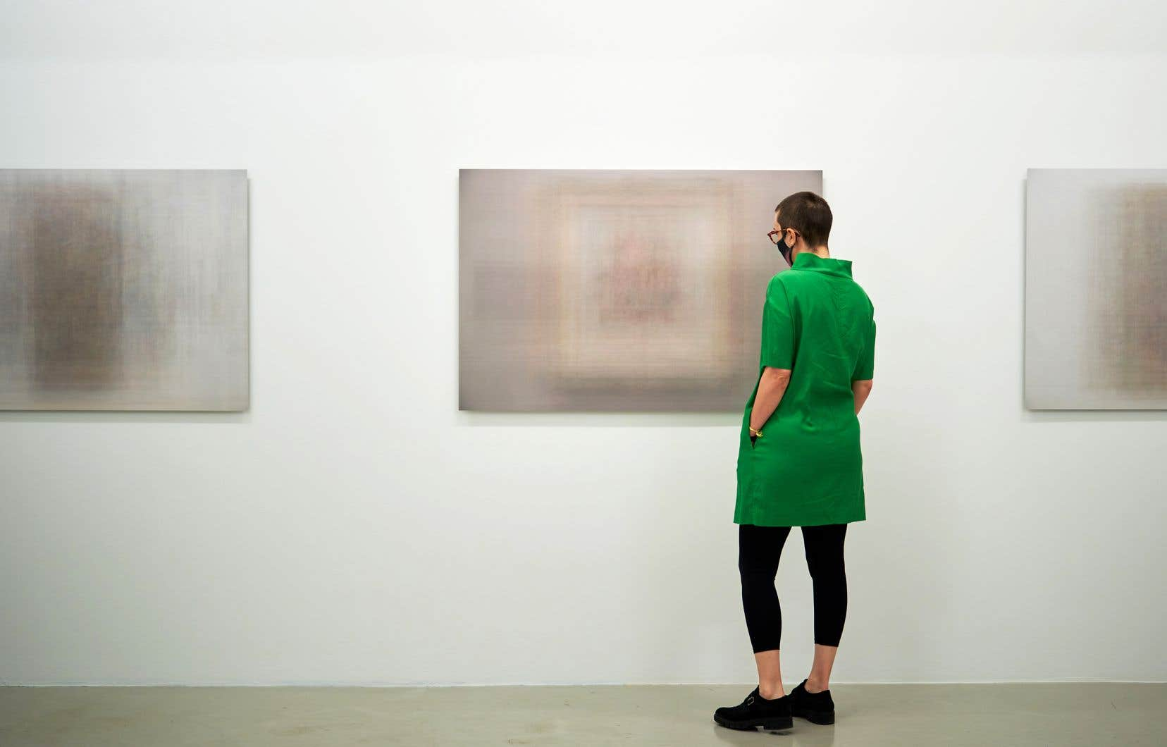 Vue de l'exposition «Les tableaux réunis», de Martin Désilets
