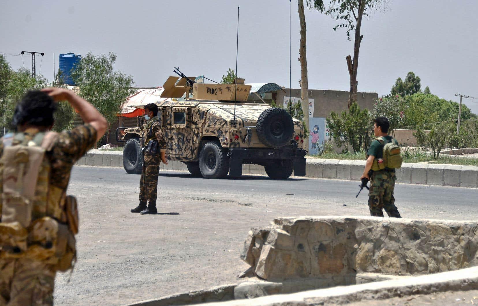 Les forces afghanes, désormais privées du crucial soutien aérien américain, ont perdu beaucoup de terrain.