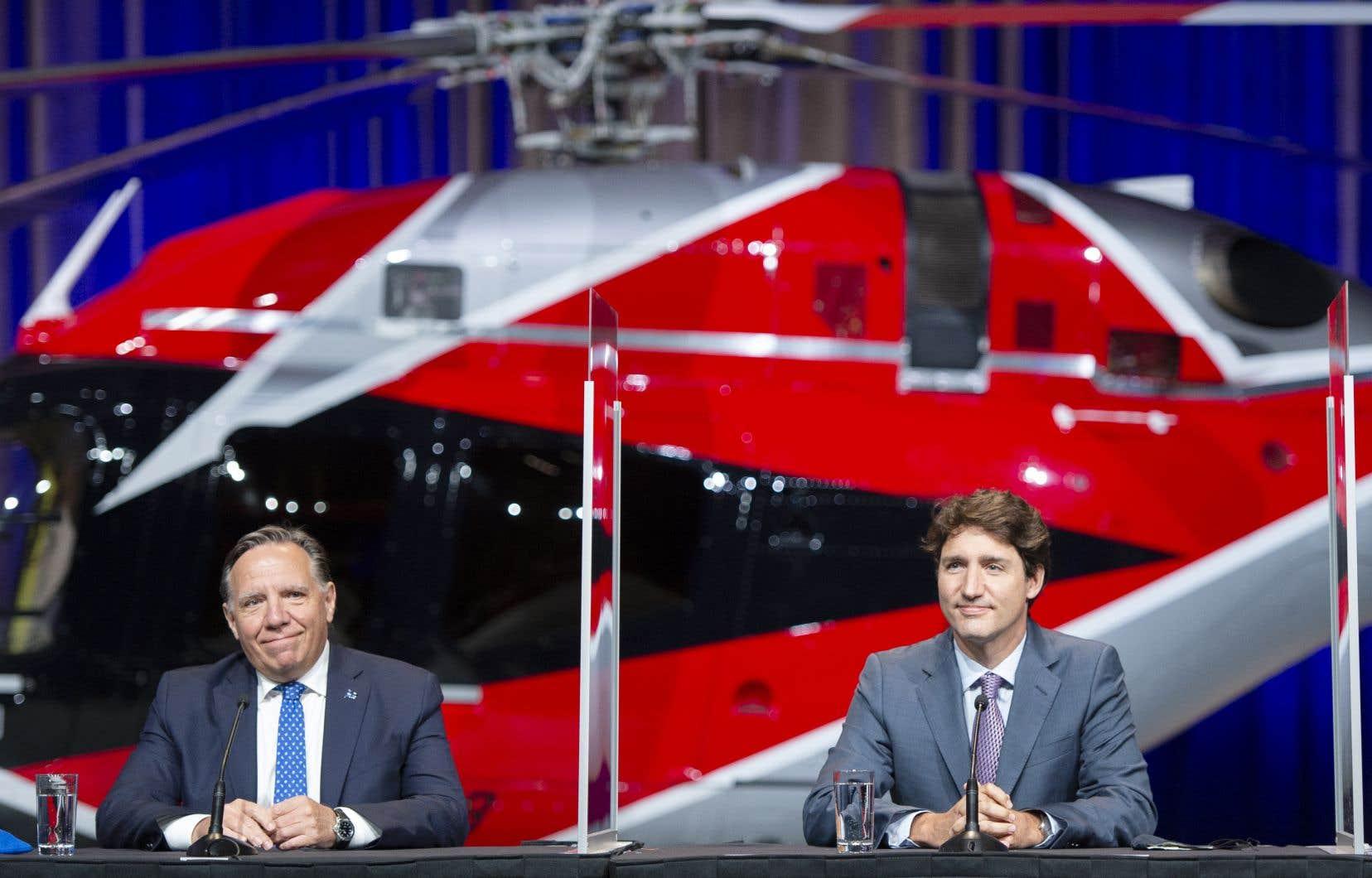 Justin Trudeau a fait cette déclaration jeudi, lors d'une conférence de presse au Palais des congrès de Montréal, en compagnie de François Legault.