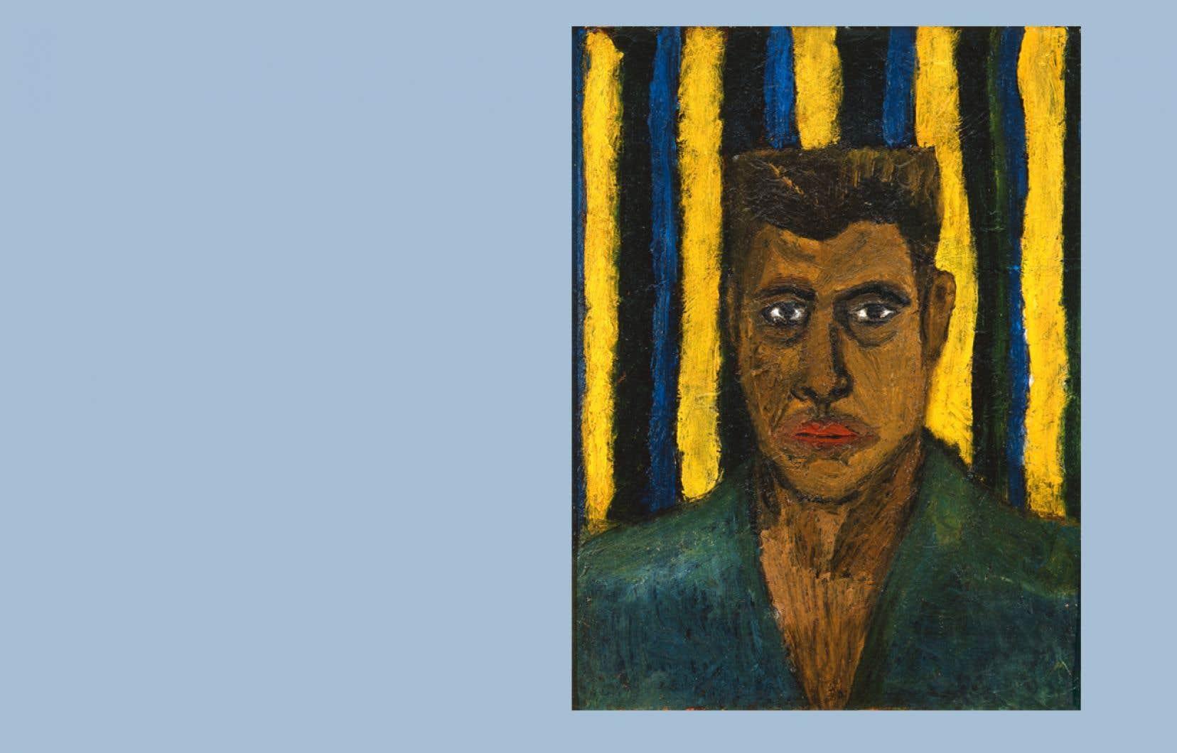 Claude Gauvreau, «Autoportrait», 1941, huile sur carton, © Succession Claude Gauvreau, SOCAN