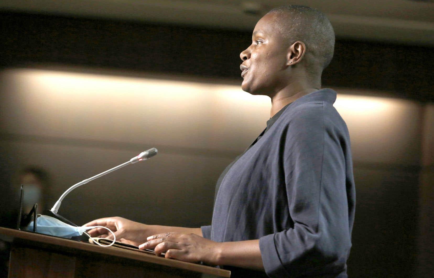 Annamie Paul a qualifié de «raciste et sexiste» la fronde «d'une minorité de conseillers» menée contre elle au sein de son parti.
