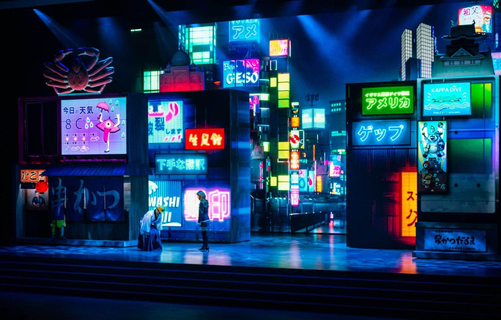 «Keren», de Moment Factory. La compagnie québécoise multiplie les projets et les partenariats au Japon et sera aussi en vedette durant les Jeux olympiques.