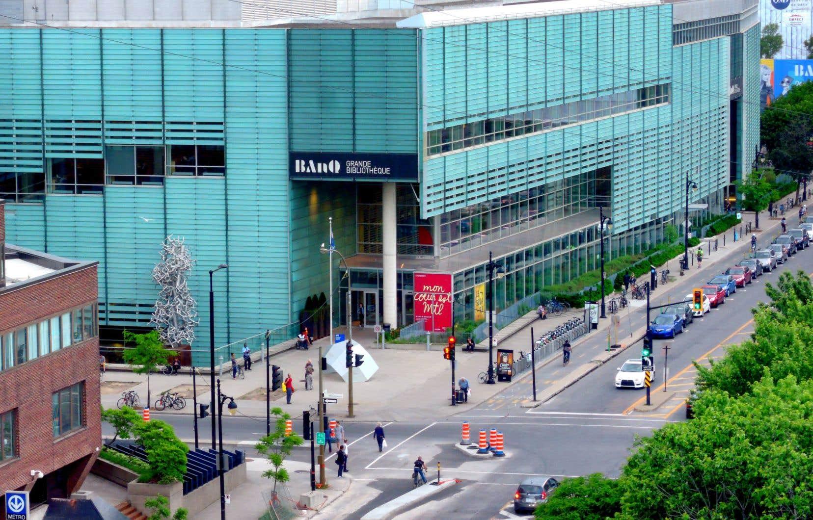 L'édifice de Bibliothèque et Archives nationales du Québec (BAnQ) à Montréal