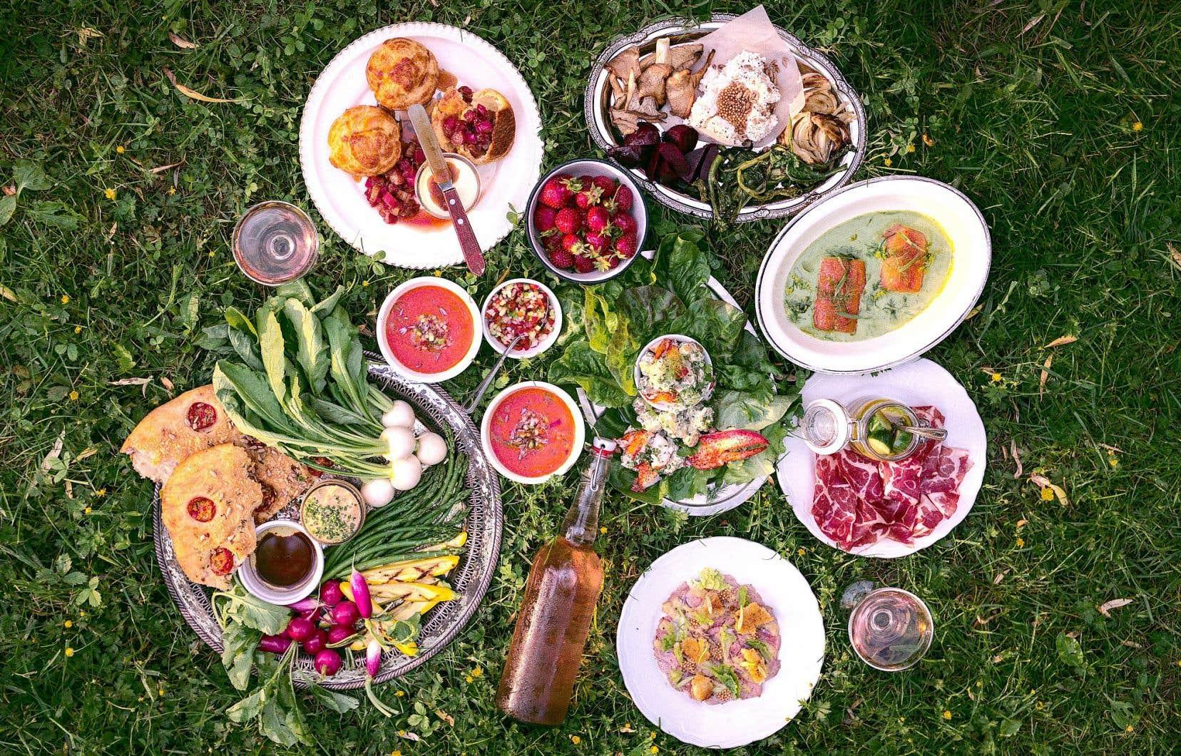 Un pique-nique préparé par le projet de La Famille, dans les Cantons-de-l'Est
