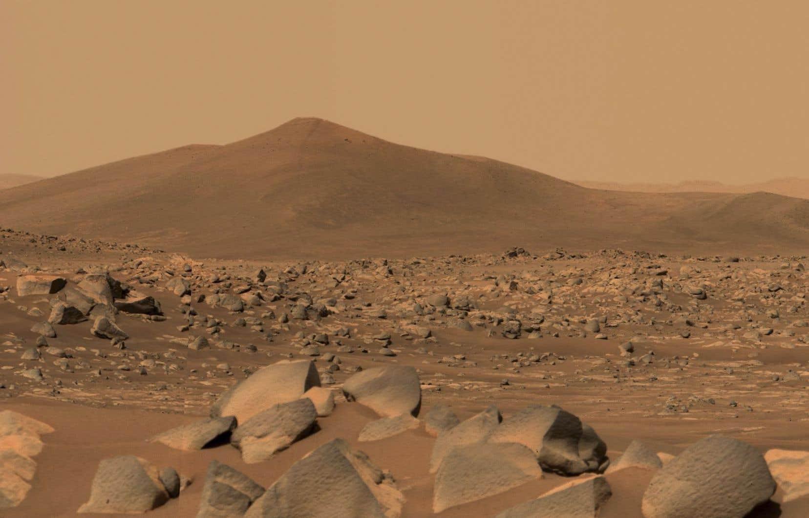 Le module, qui fait la taille d'un gros SUV, s'est posé le 18février dans le cratère de Jezero sur la planète Mars.