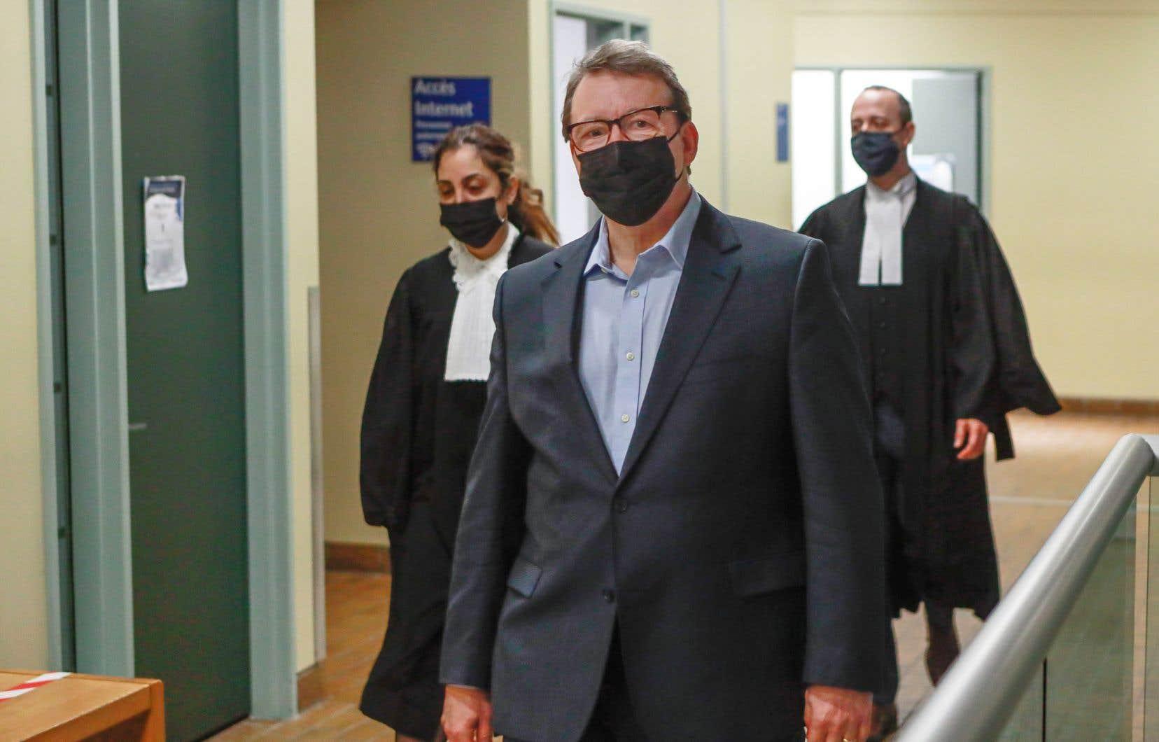 Michel Venne au palais de justice de Québec le 2 février dernier