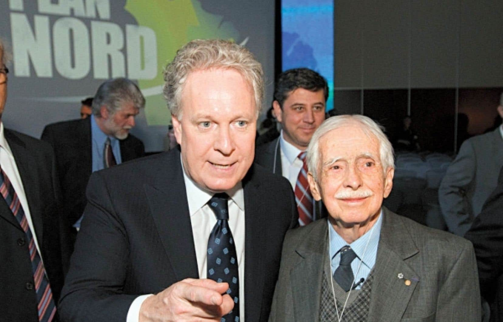 Le géographe et écrivain Louis-Edmond Hamelin a pris part en mai dernier au dévoilement du Plan Nord par Jean Charest.
