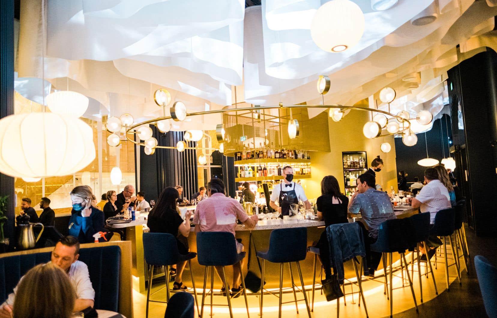 Le décor du restaurant BŌ a récemment gagné l'or aux Grands Prix du design.