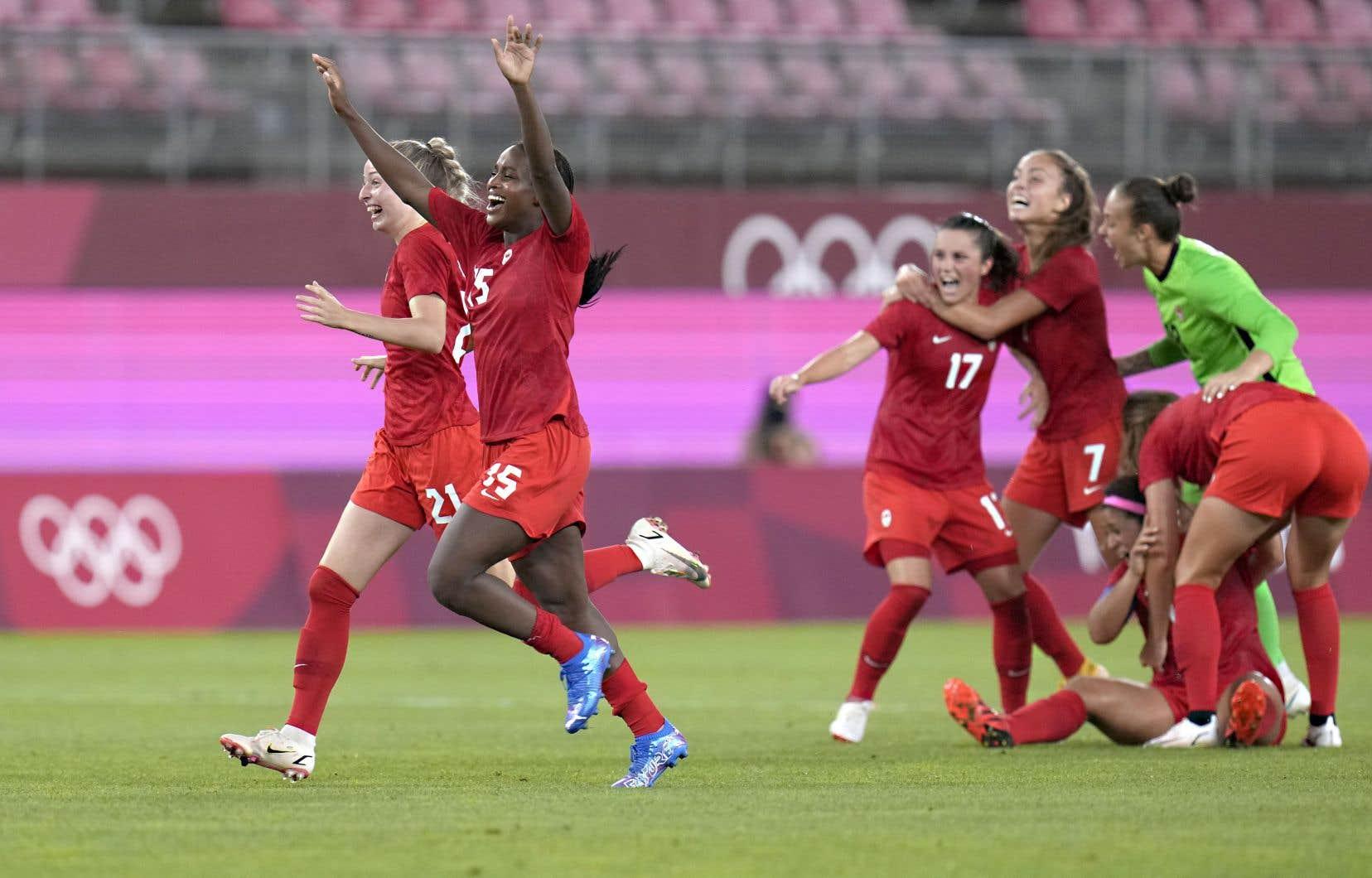 Cette fois, le Canada ne s'est pas incliné face aux Américaines comme lors des demi-finales des Jeux de Londres, en 2012.