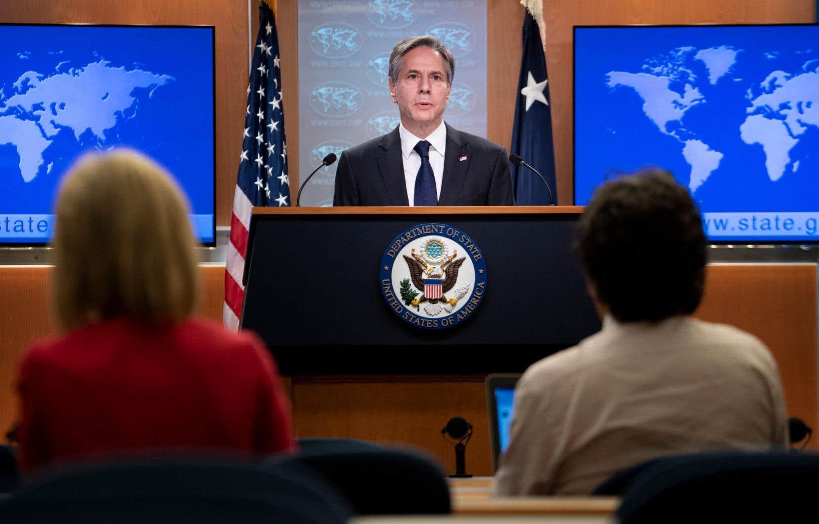«Les actes iraniens sont une menace directe contre la liberté de navigation», a martelé Antony Blinken, qui avait déjà accusé la veille l'Iran d'avoir mené cette attaque.
