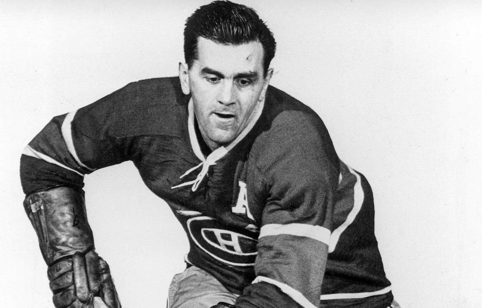 Maurice Richard a joué dans la LNH de 1942 à 1960. On le voit ici en 1954.