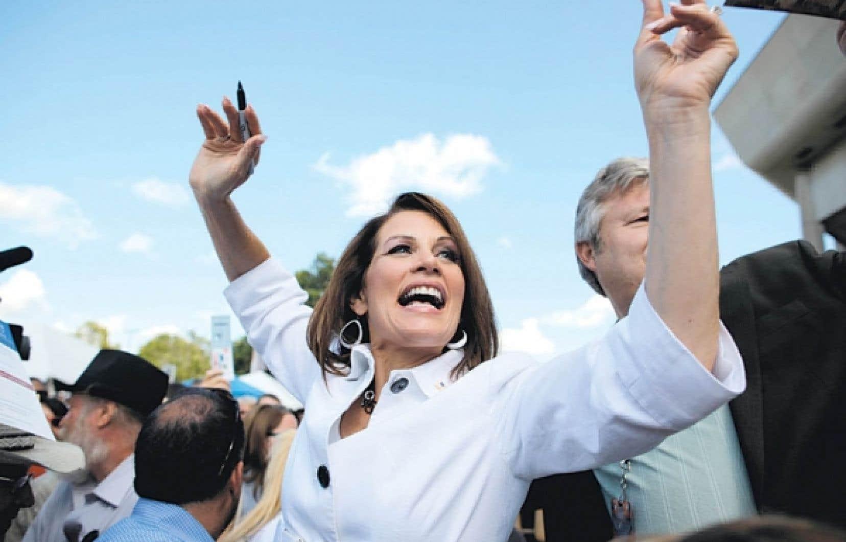 Michele Bachmann, samedi, dans l'Iowa