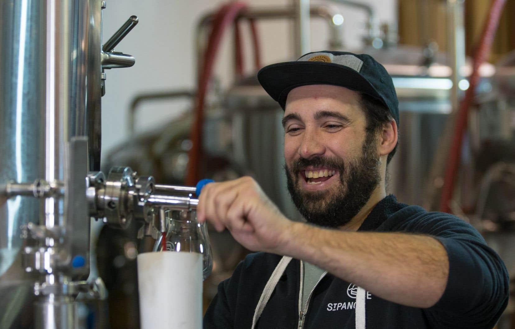 La Microbrasserie Saint-Pancrace, dont les bières sont inspirées du territoire de la région
