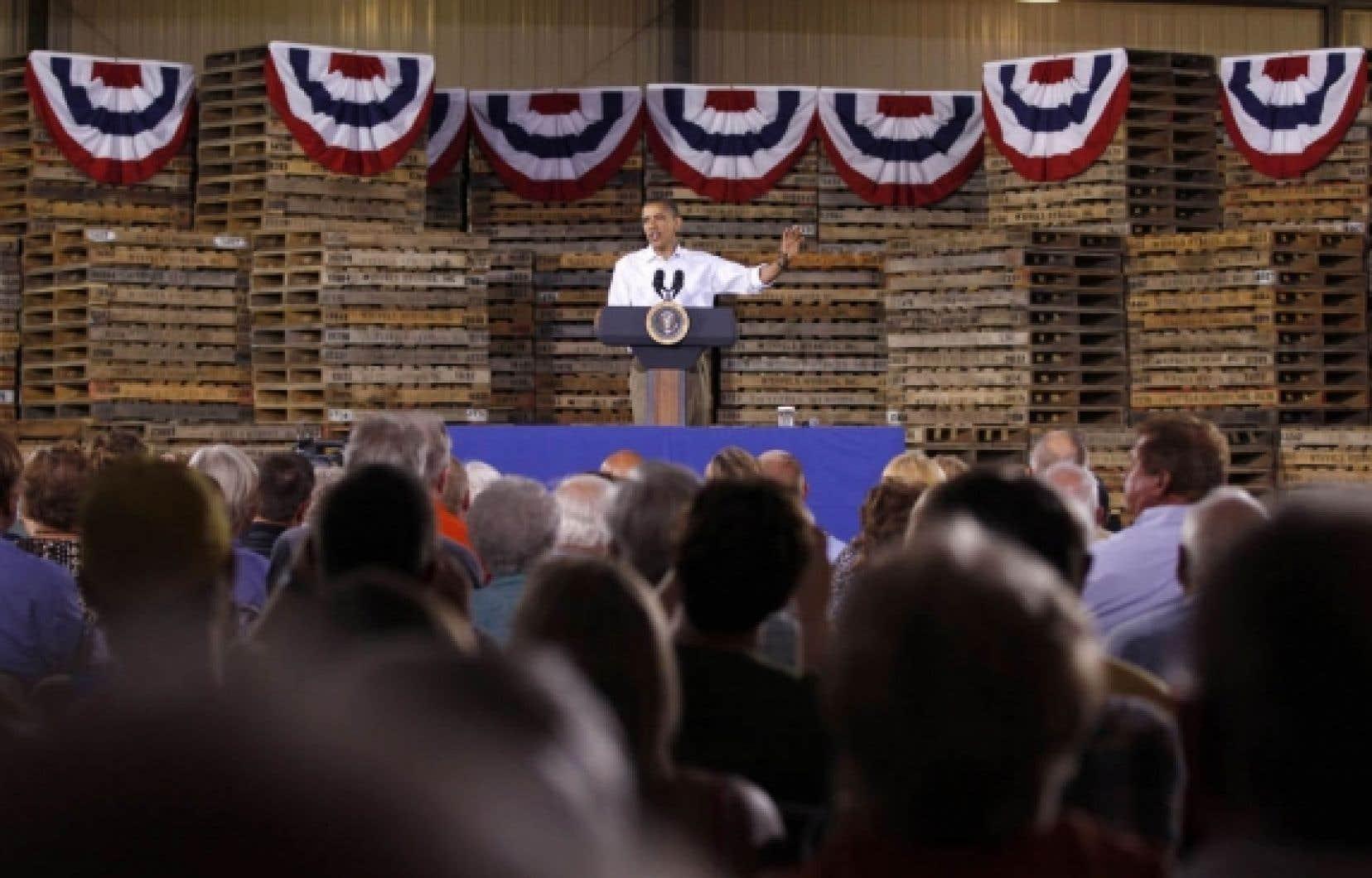 En tournée dans l'Illinois, hier, Barack Obama a révélé qu'il déposerait en septembre un nouveau plan pour créer des emplois et relancer l'économie. <br />