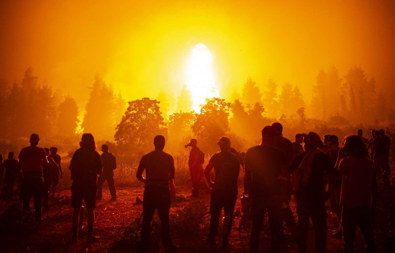 La Grèce et la Turquie traversent depuis près de deux semaines une vague d'incendies violents, favorisés par la sécheresse et des températures caniculaires.