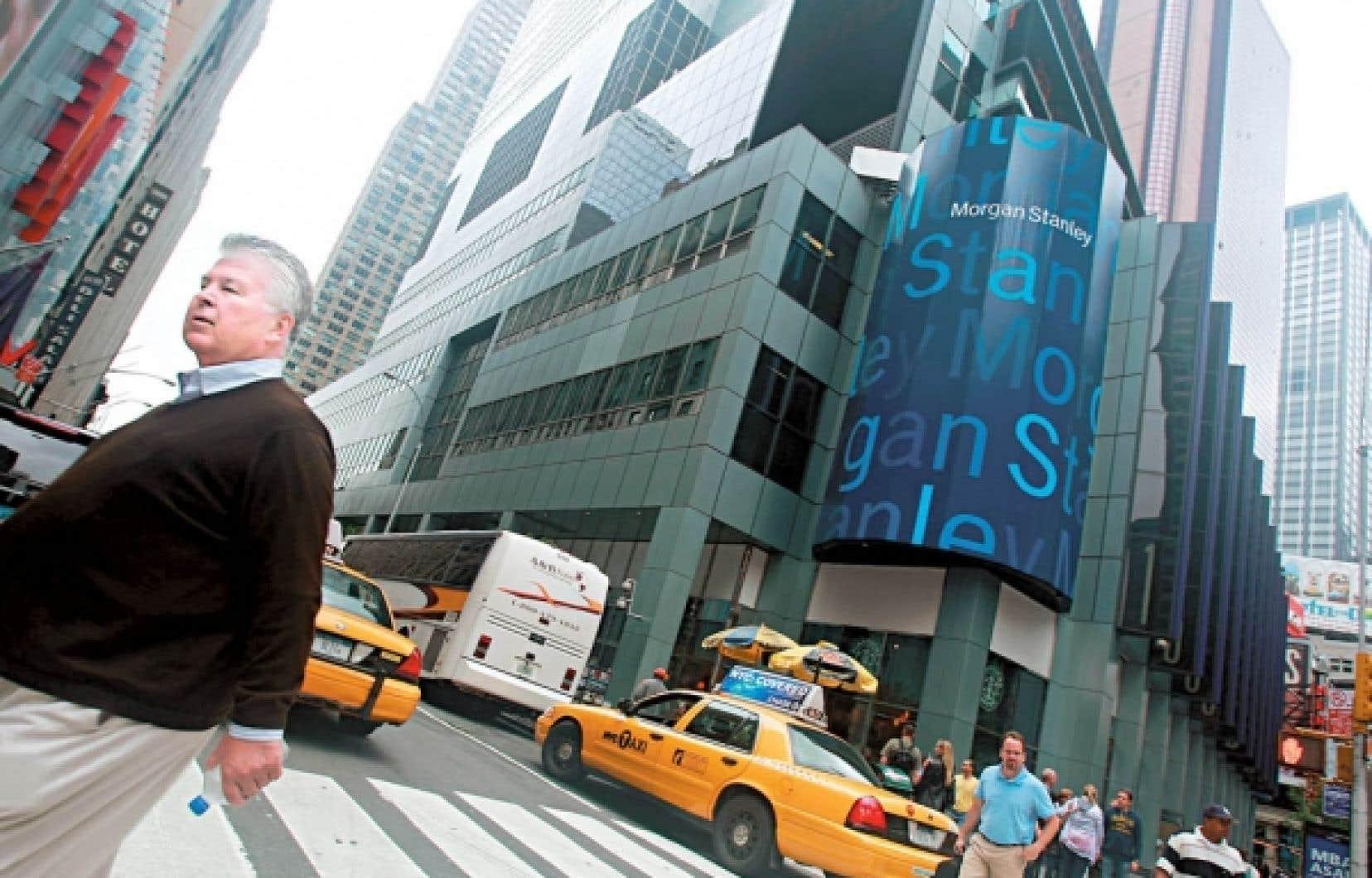 Le siège social de la banque d'affaires Morgan Stanley, à New York. La banque a obtenu un peu plus de 107 milliards de la Réserve fédérale américaine durant la crise financière.