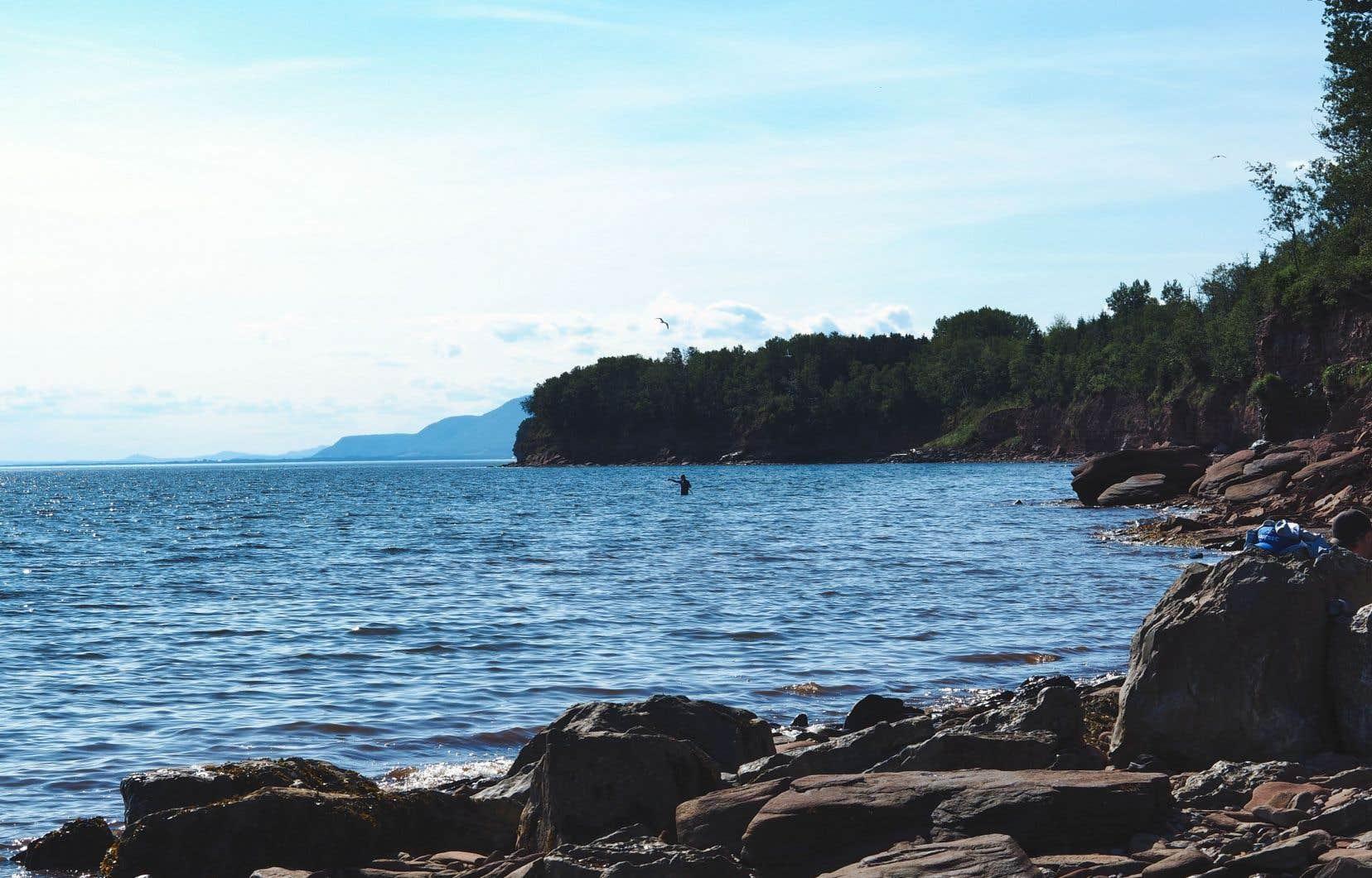 La baie des Chaleurs vue depuis la rive de la municipalité deCaplan