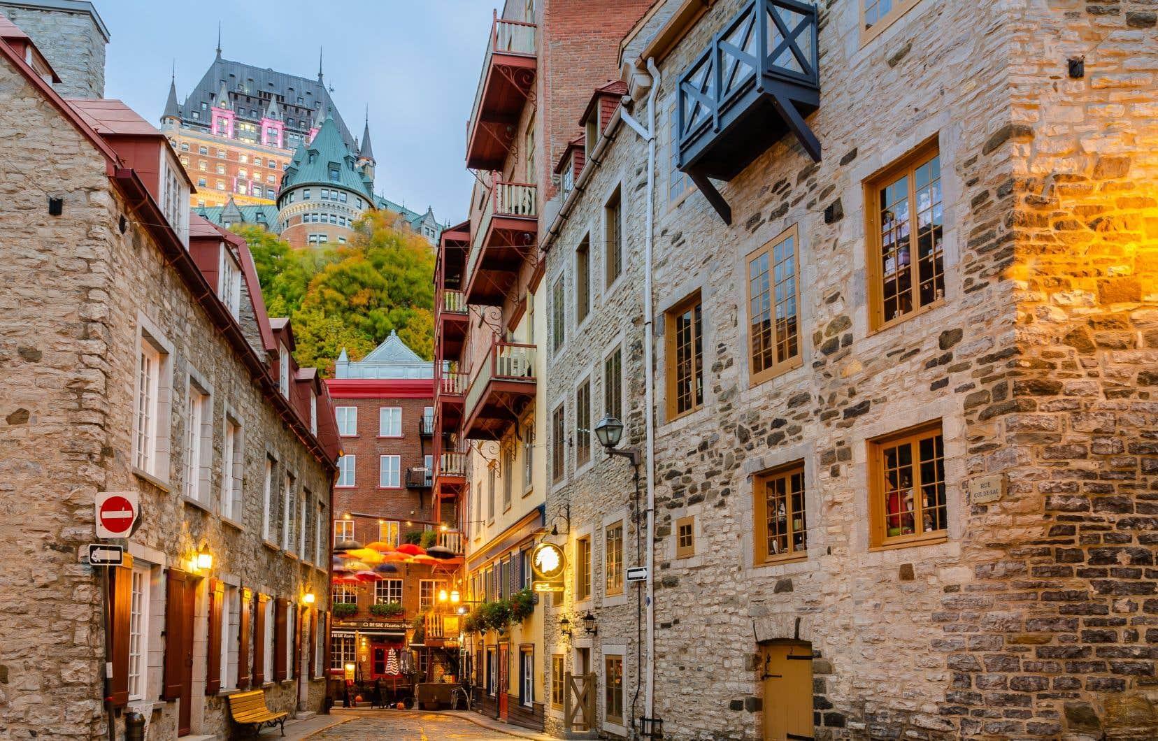 L'une des rues piétonnières du quartier Petit-Champlain, dans le Vieux-Québec