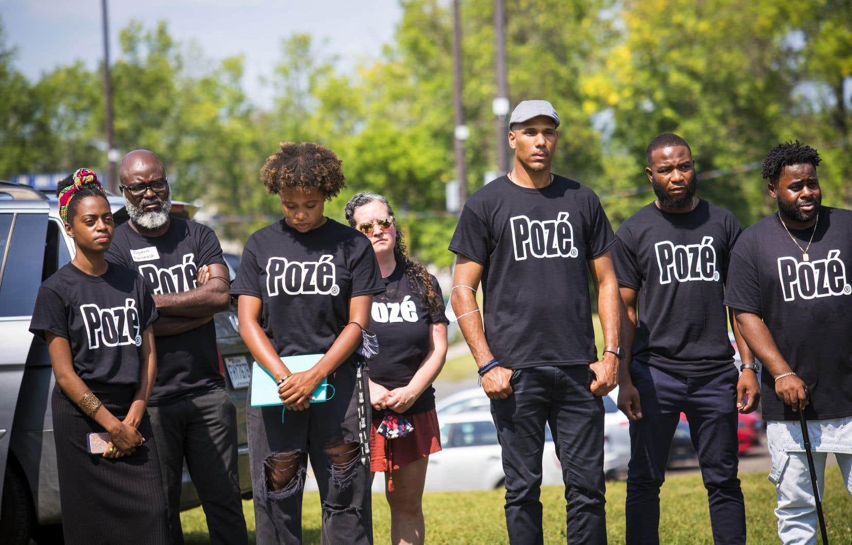 La coalition a tenu un premier rassemblement public à Rivière-des-Prairies mercredi, quartier où trois hommes ont été tués et deux autres blessés par balles au début du mois d'août.