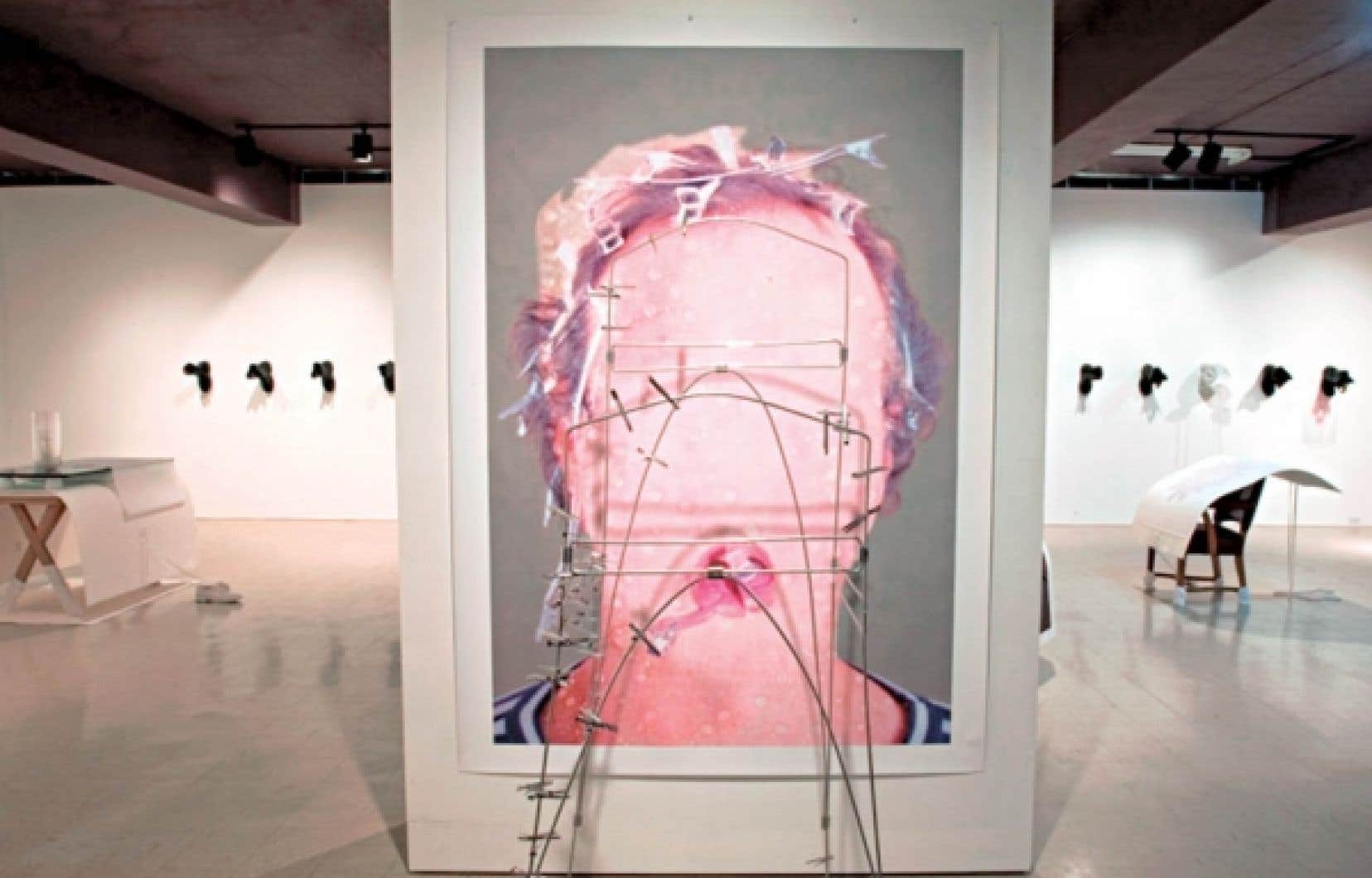 Une toile de Guy Blackburn. L'artiste sera exposé au centre Sagamie d'Alma.