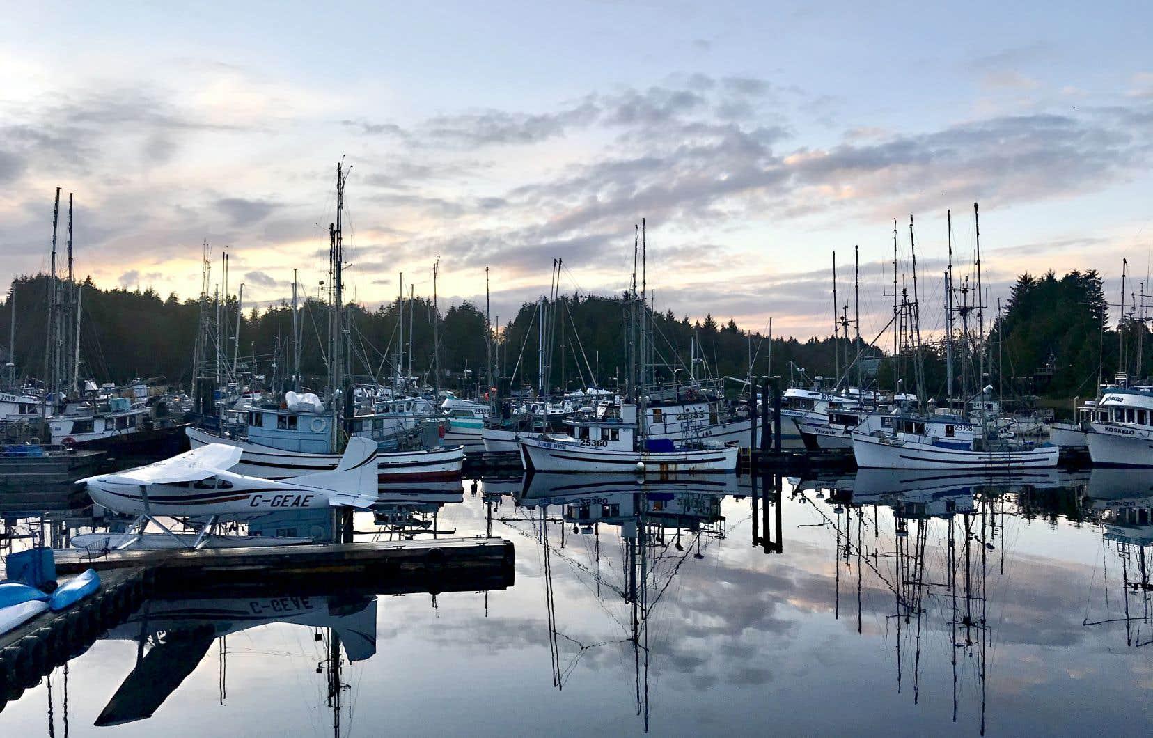 La marina d'Ucluelet, non de loin de Tofino, du côté ouest de l'île de Vancouver