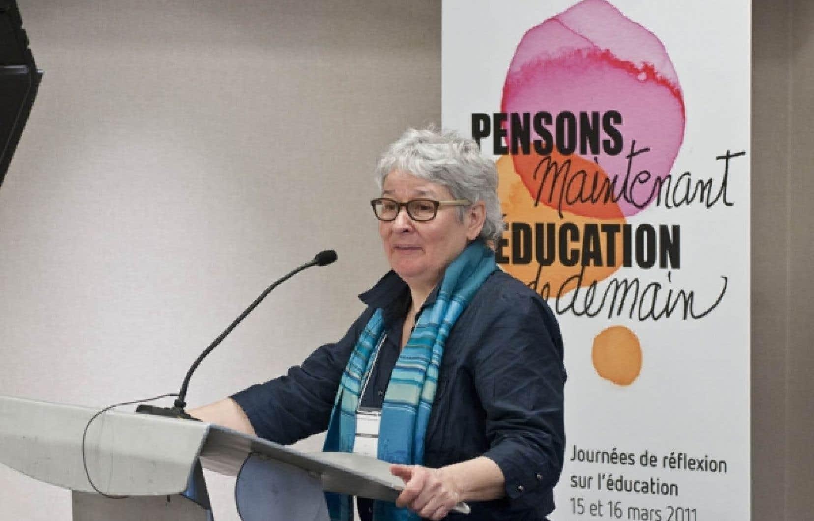 Denise Boucher, vice-pr&eacute;sidente de la CSN, a particip&eacute; aux journ&eacute;es de r&eacute;flexion &laquo;Pensons maintenant l&rsquo;&eacute;ducation de demain&raquo;, les 15 et 16 mars 2011, &agrave; Montr&eacute;al.<br />