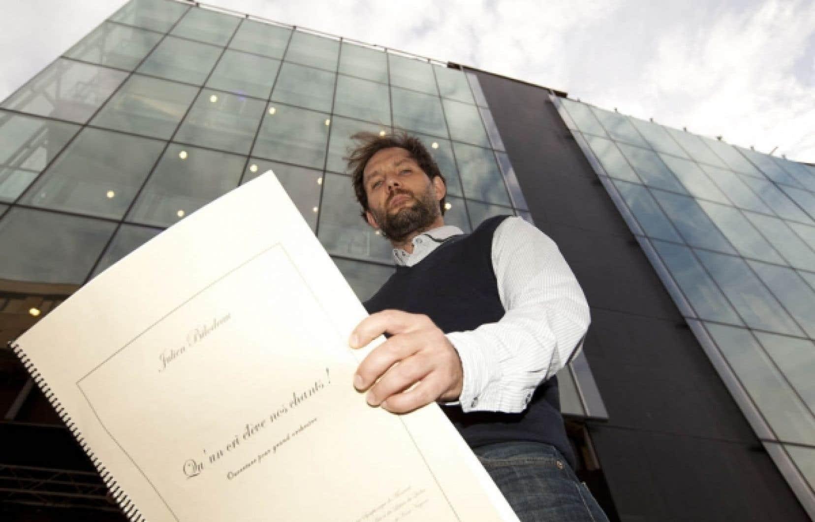 Julien Bilodeau, un compositeur de 36 ans, a d&eacute;j&agrave; fait ses preuves en mati&egrave;re de composition orchestrale.<br />