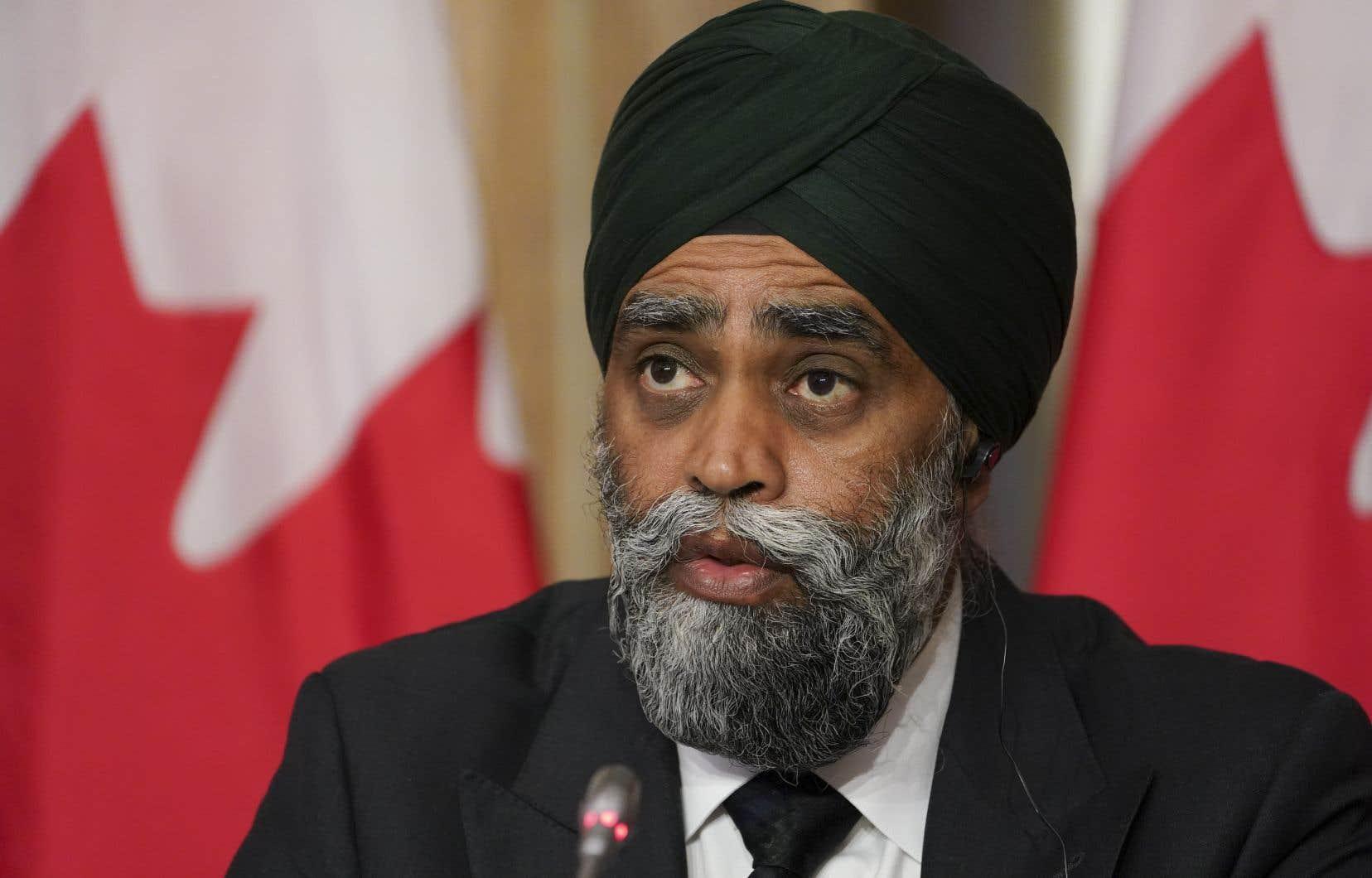 Le ministre de la Défense nationale du Canada, Harjit Sajjan