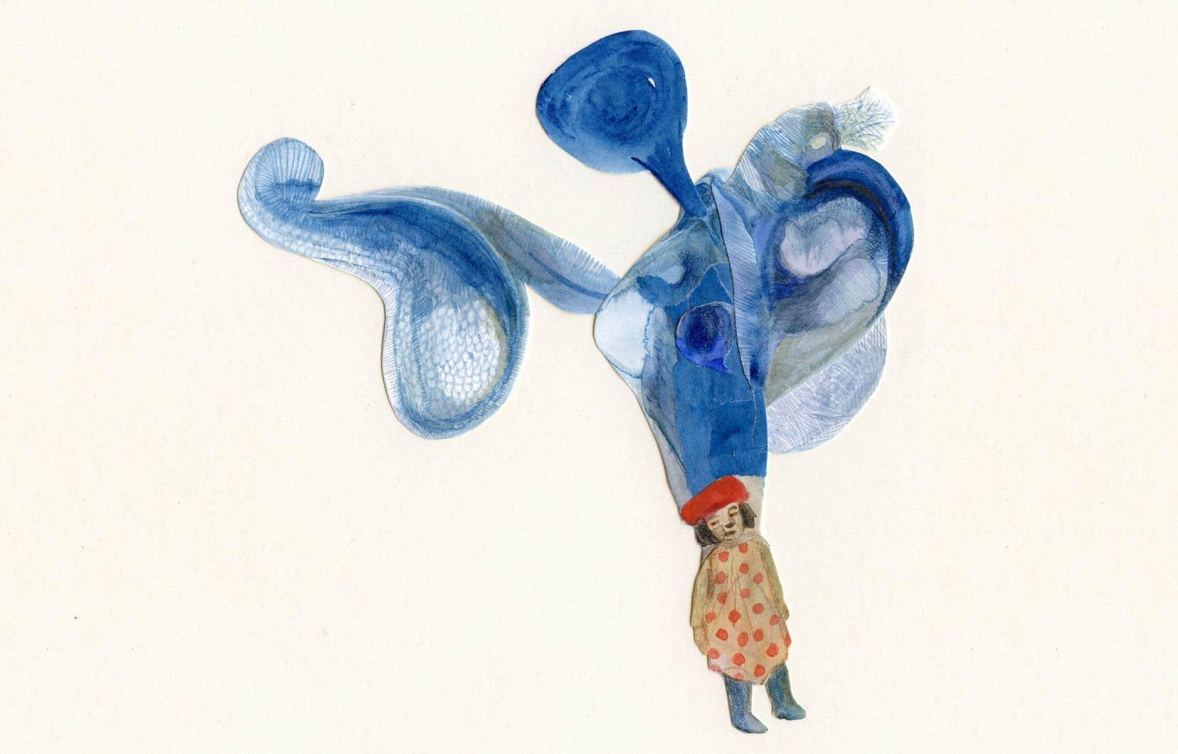 Une illustration tirée de «L'univers bleu d'Anouka»