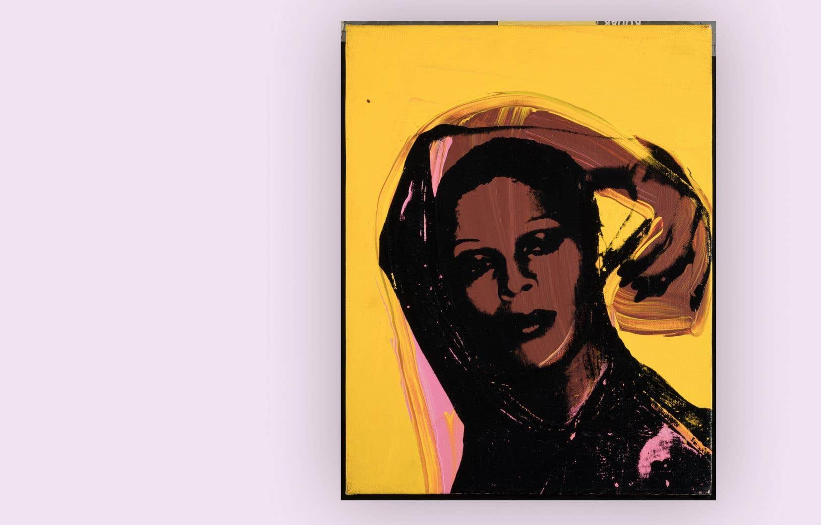 Andy Warhol, «Iris» (1975), détail d'une image tirée de la série «Ladies and Gentlemen»