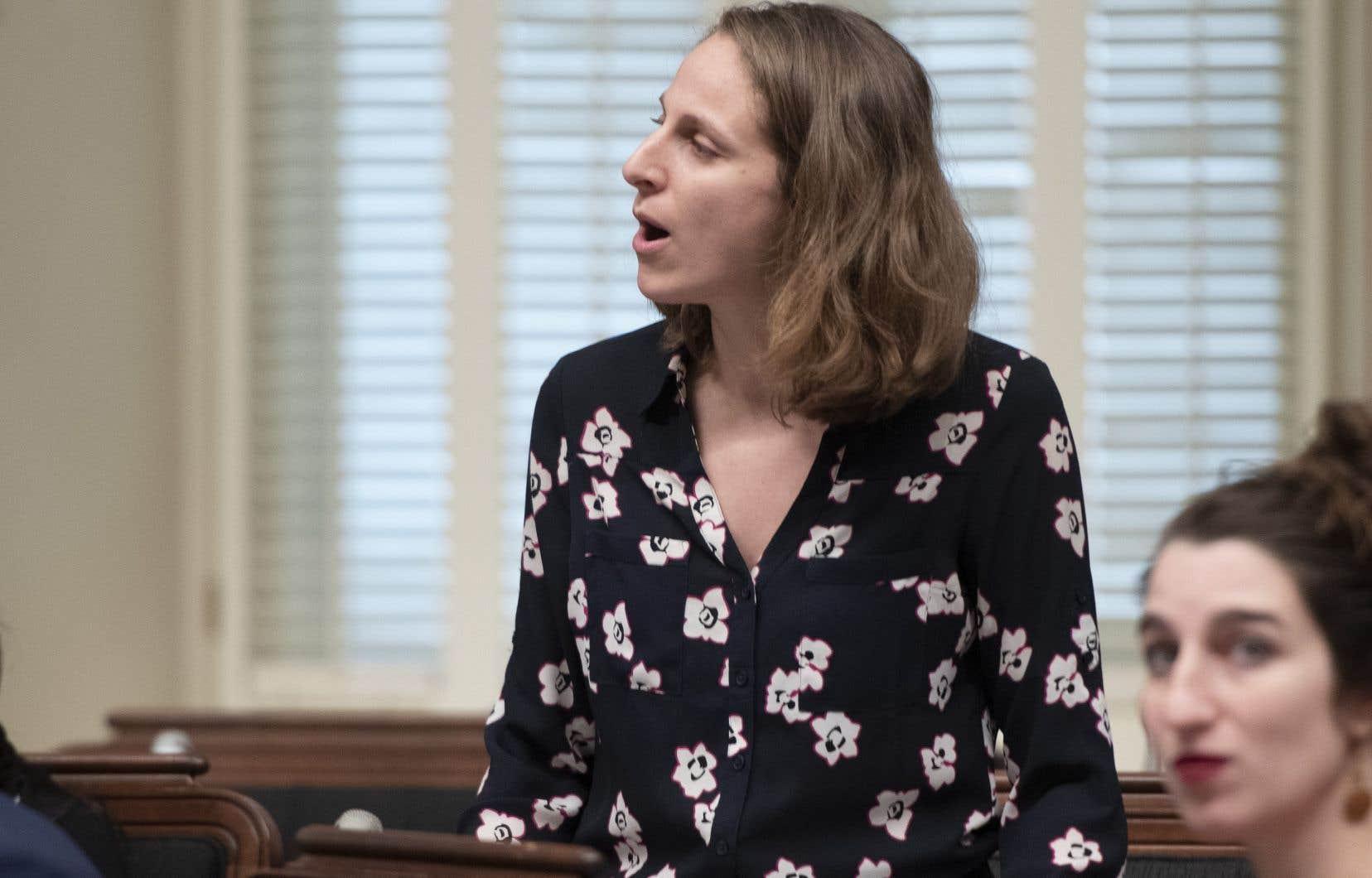 La députée solidaire Christine Labrie