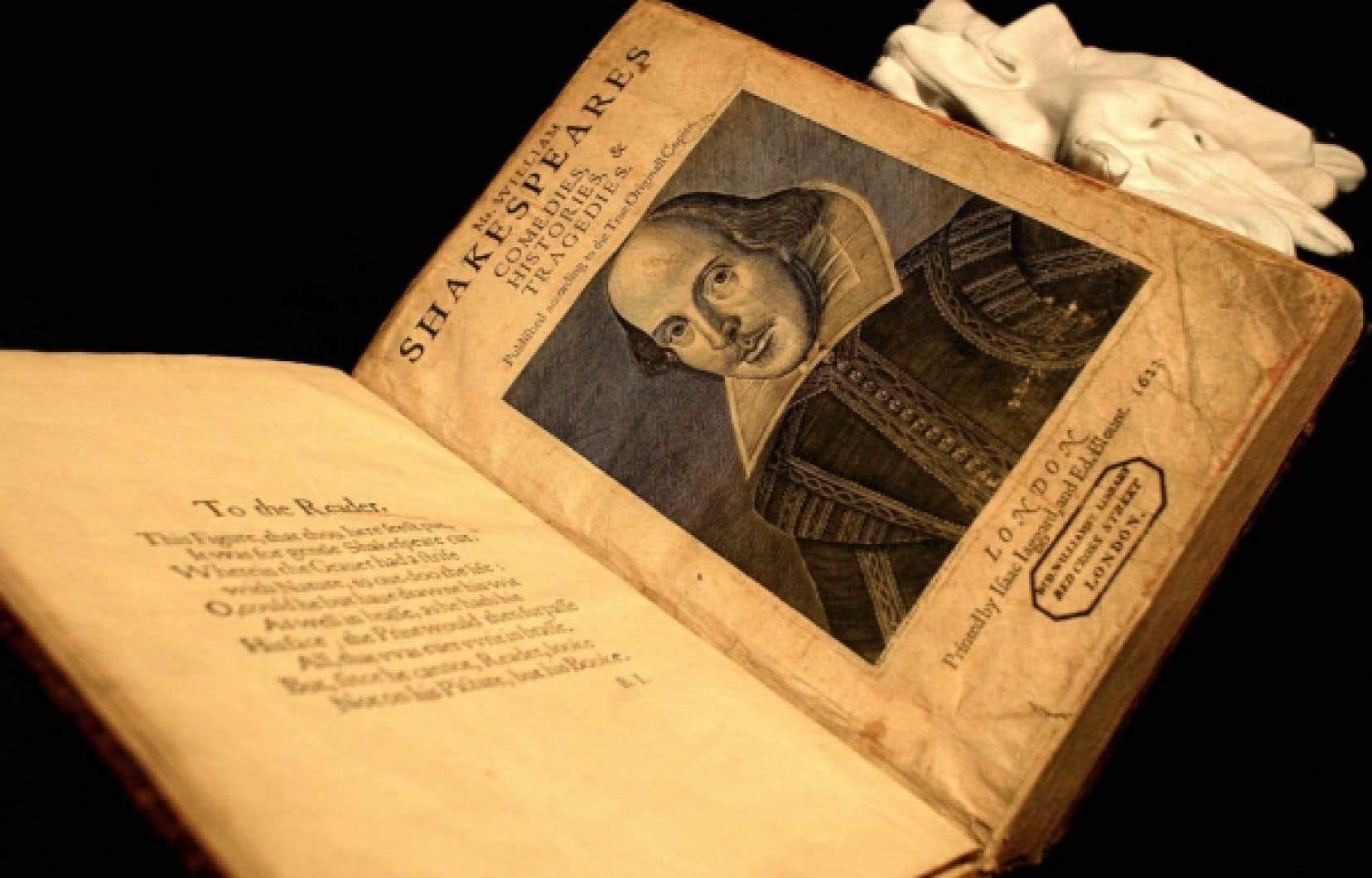Première édition des pièces de Shakespeare datant de 1623 <br />