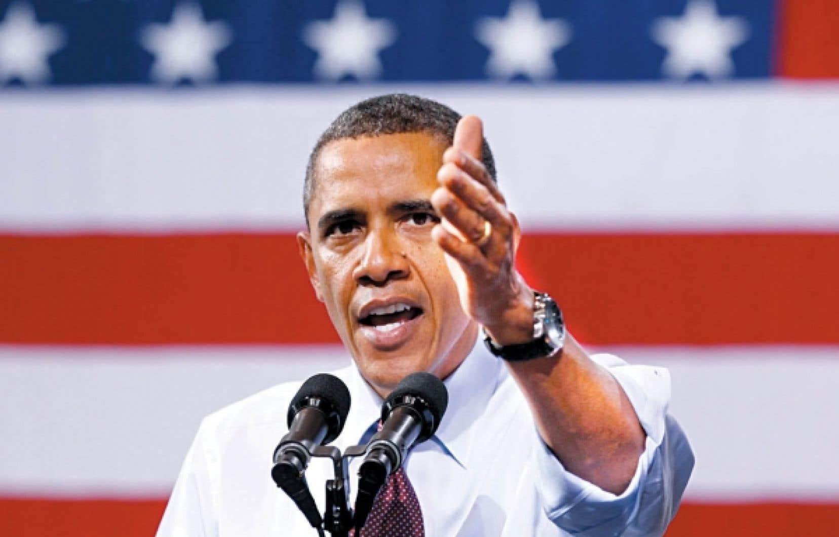 Barack Obama: «Vous [les républicains] ne pouvez pas faire une exception quand les réductions d'impôt s'effectuent au profit de la classe moyenne.»<br />