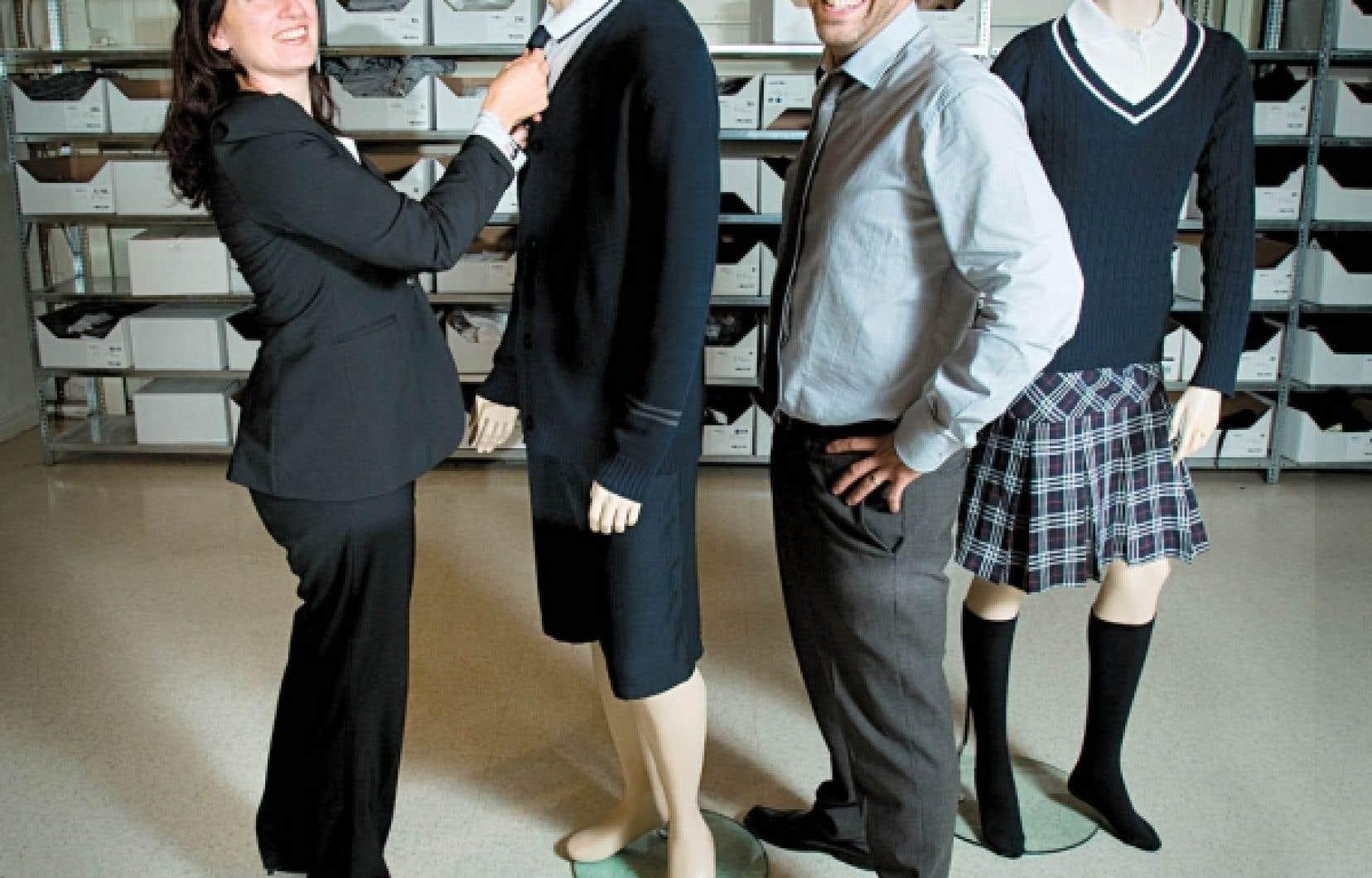 Tammy Hattem et Patrick Lepage, les cofondateurs de l'entreprise Stone Lizard, qui habille des milliers d'élèves au Québec<br />