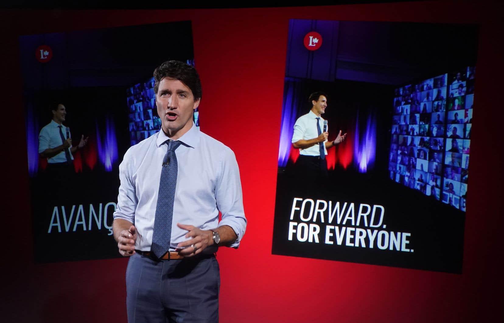 Le parti de Justin Trudeau, au pouvoir depuis 2015, a publié sa plateforme électorale mercredi.