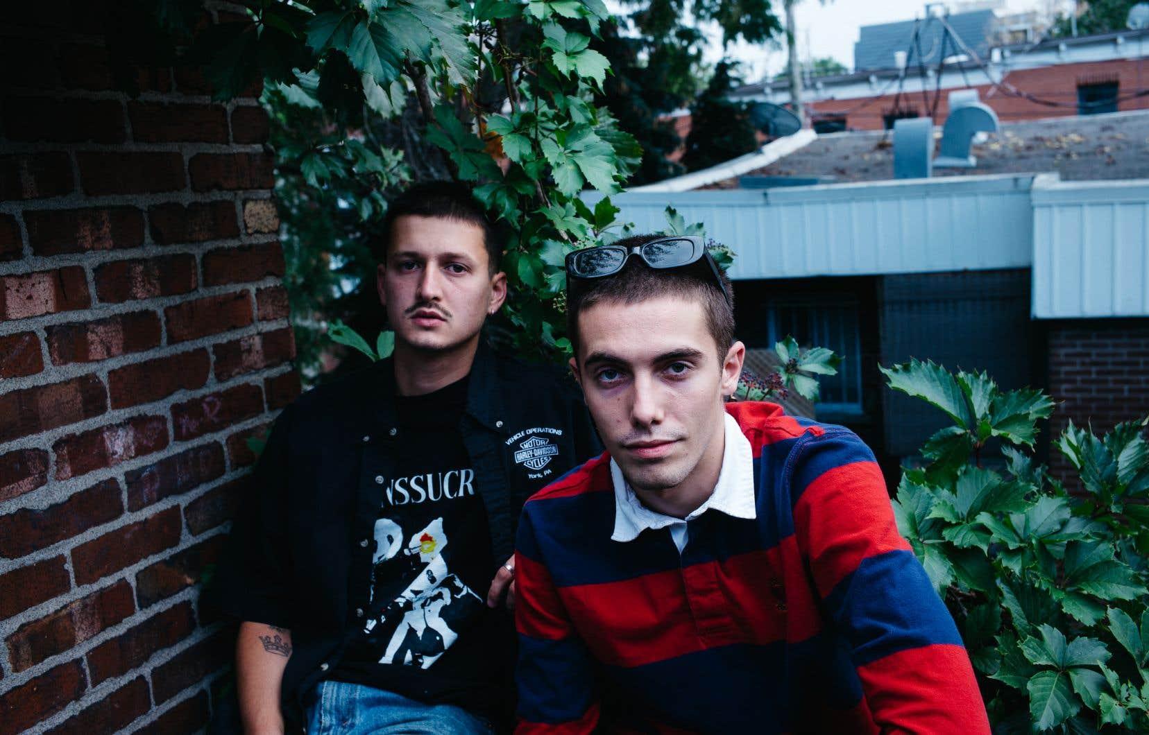 Jamaz (à droite) a lancé il y a quelques semaines un premier album, «Les Ennuis», sur lequel on peut entendre les autres membres de LaF, dont Bkay (à gauche).