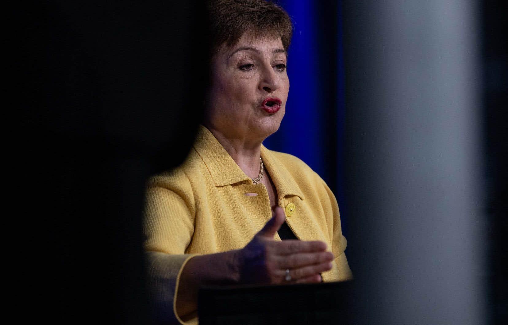 La directrice générale du Fonds monétaire international, Kristalina Georgieva