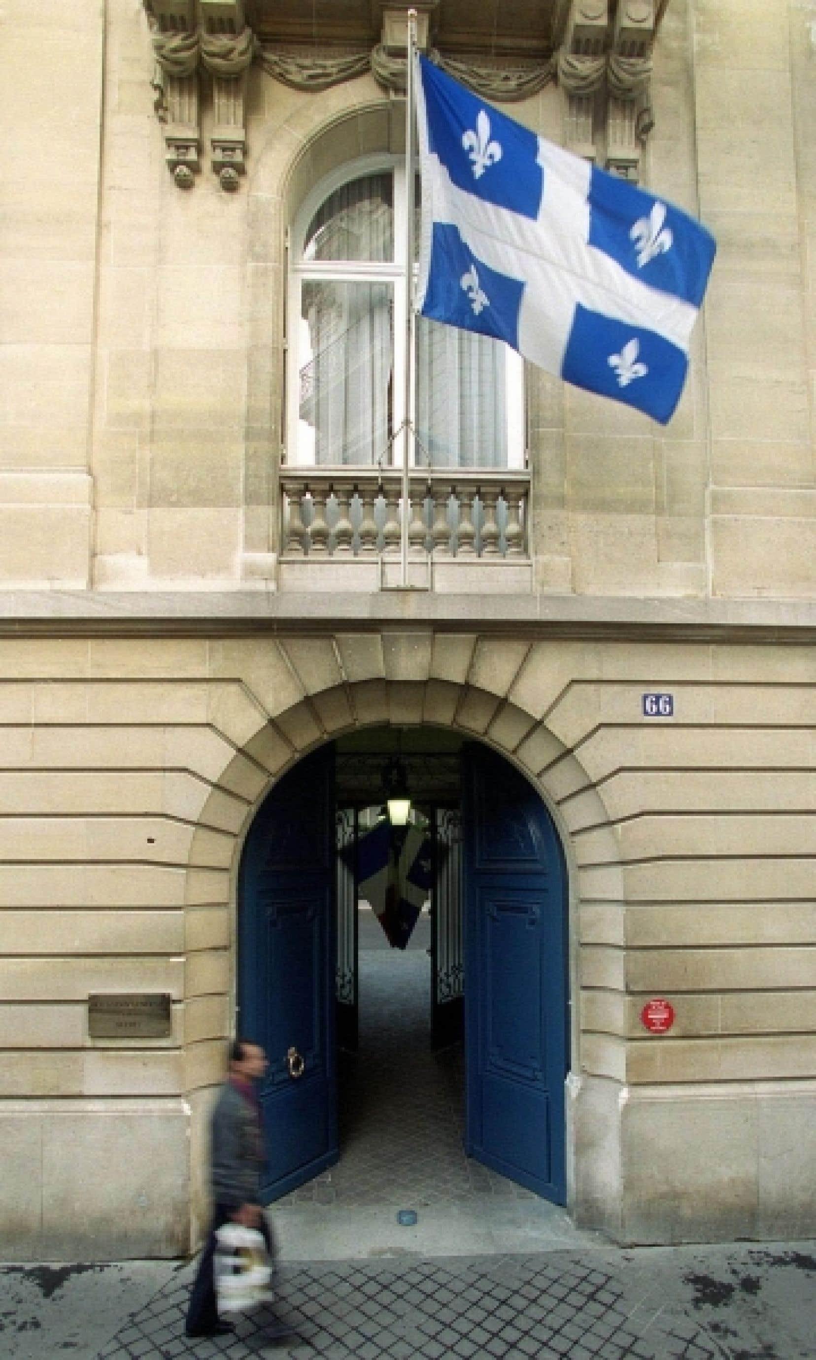 La façade de la Délégation du Québec à Paris, au 66 de la rue Pergolèse.<br />