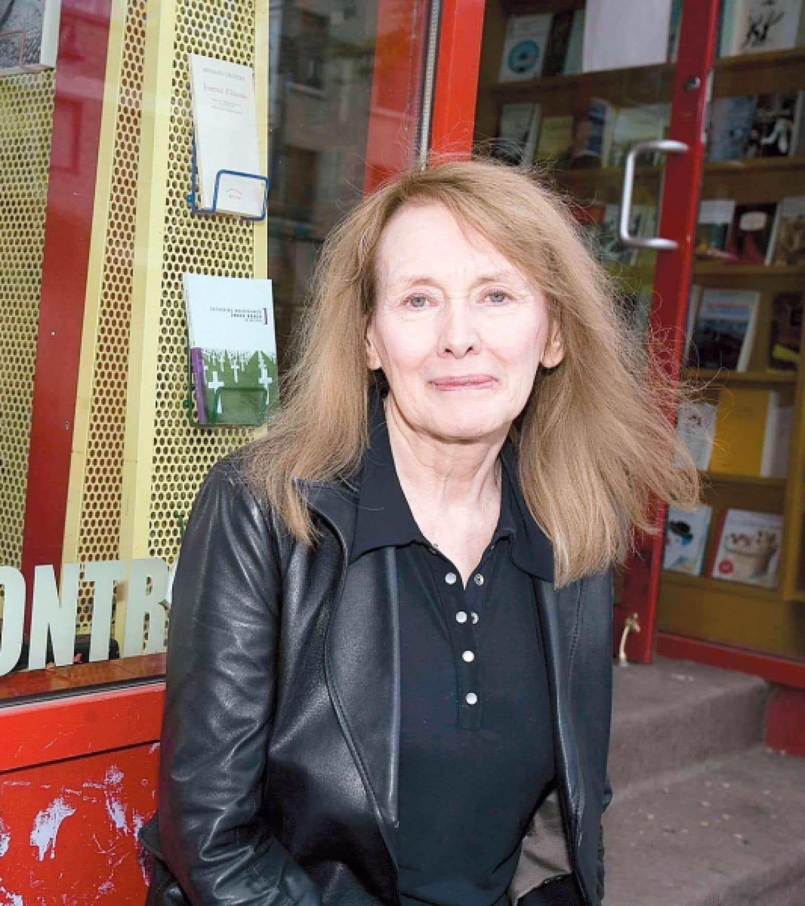 Annie Ernaux lors de son dernier passage à Montréal, en 2008<br />