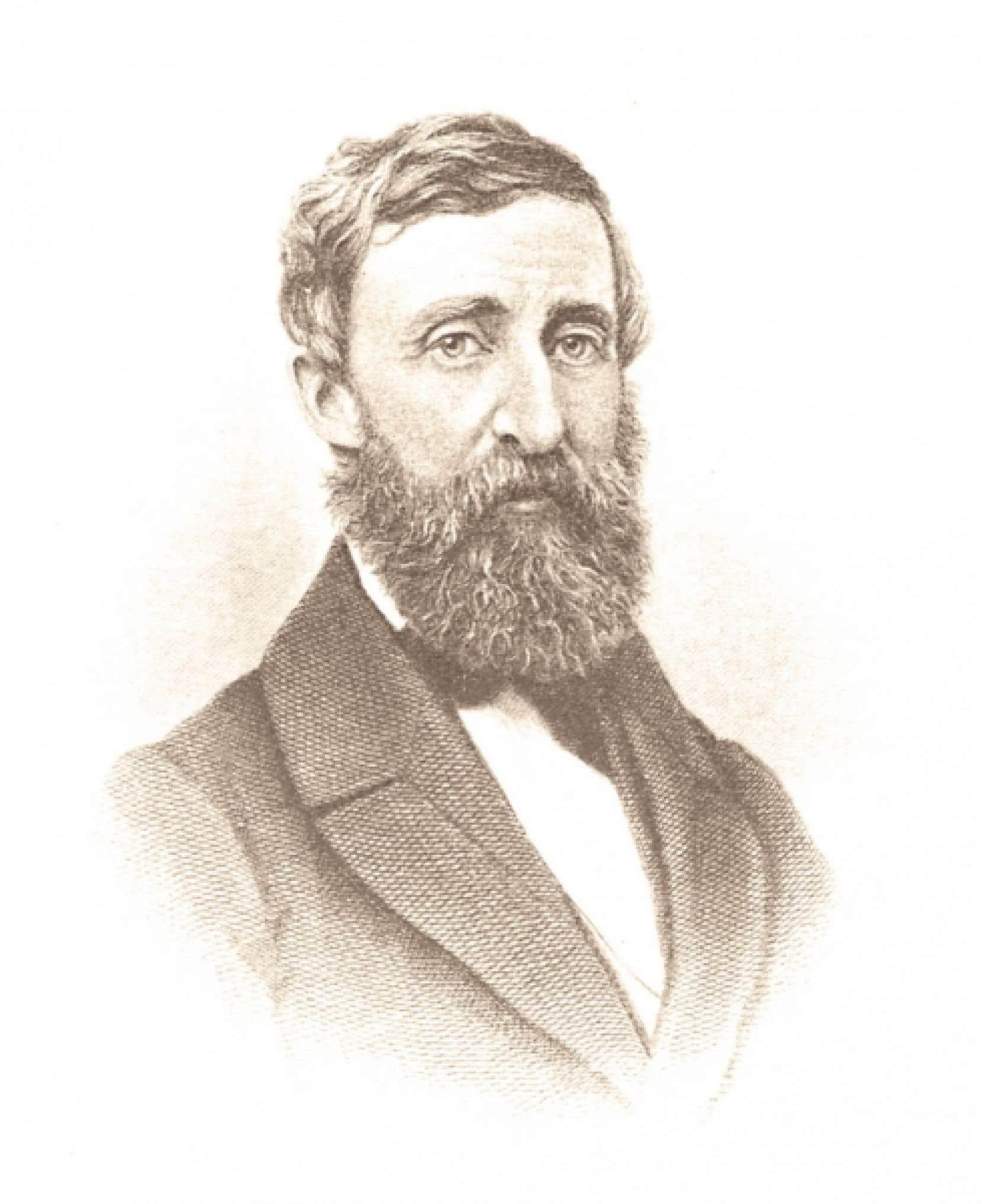 Le philosophe am&eacute;ricain Henry David Thoreau (1817-1862)<br />