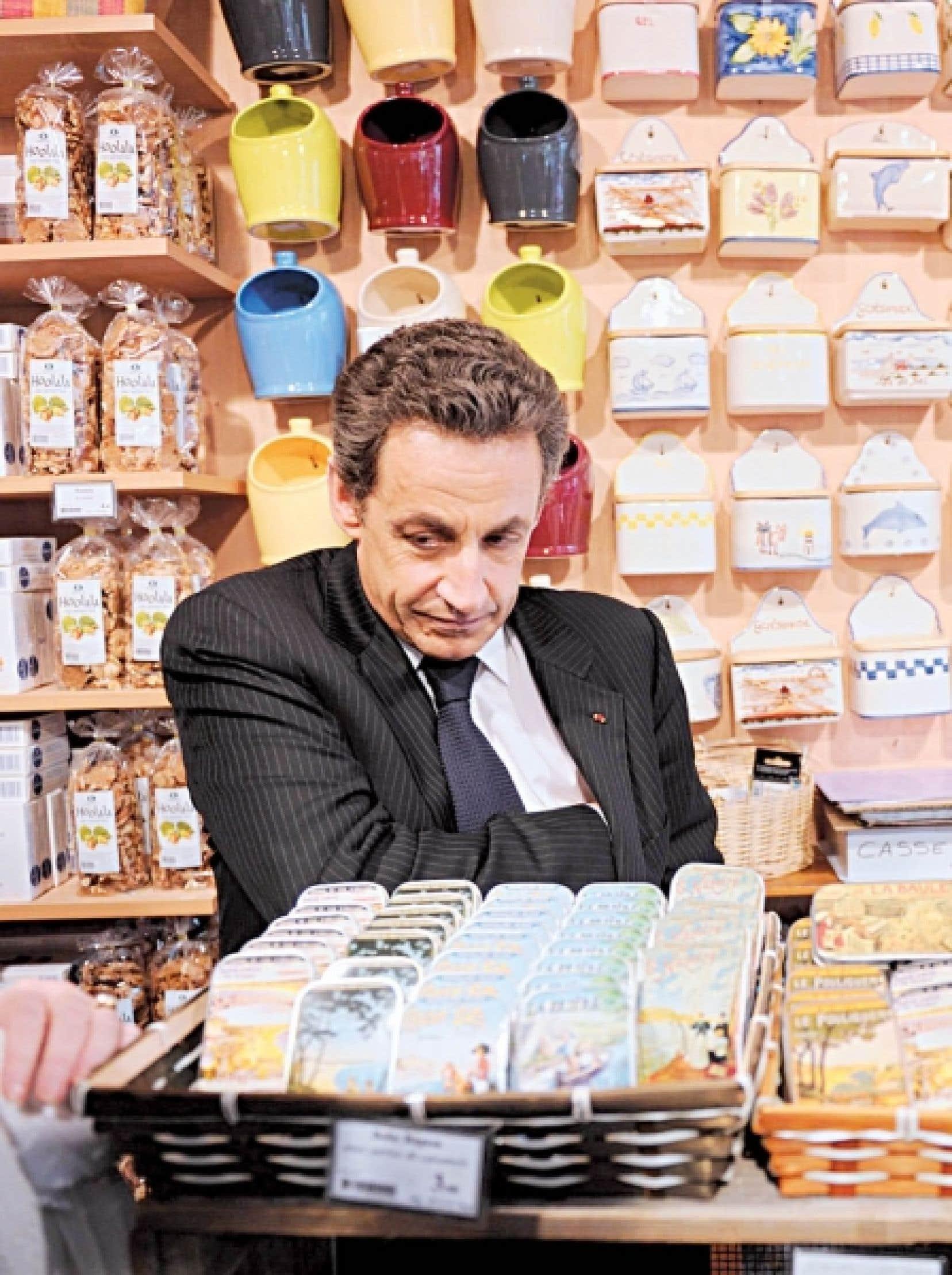 Nicolas Sarkozy a profité de son passage à Guérande hier pour faire du magasinage.<br />