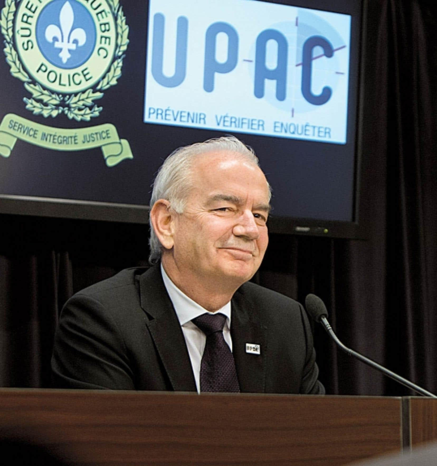 Robert Lafrenière, commissaire de l'UPAC, cette semaine.<br />
