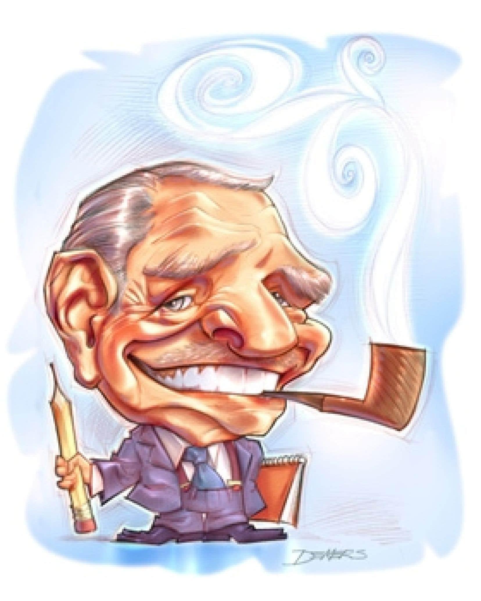 La caricature de Robert La Palme dessinée par l'invité d'honneur au Salon de la caricature, Yves Demers.