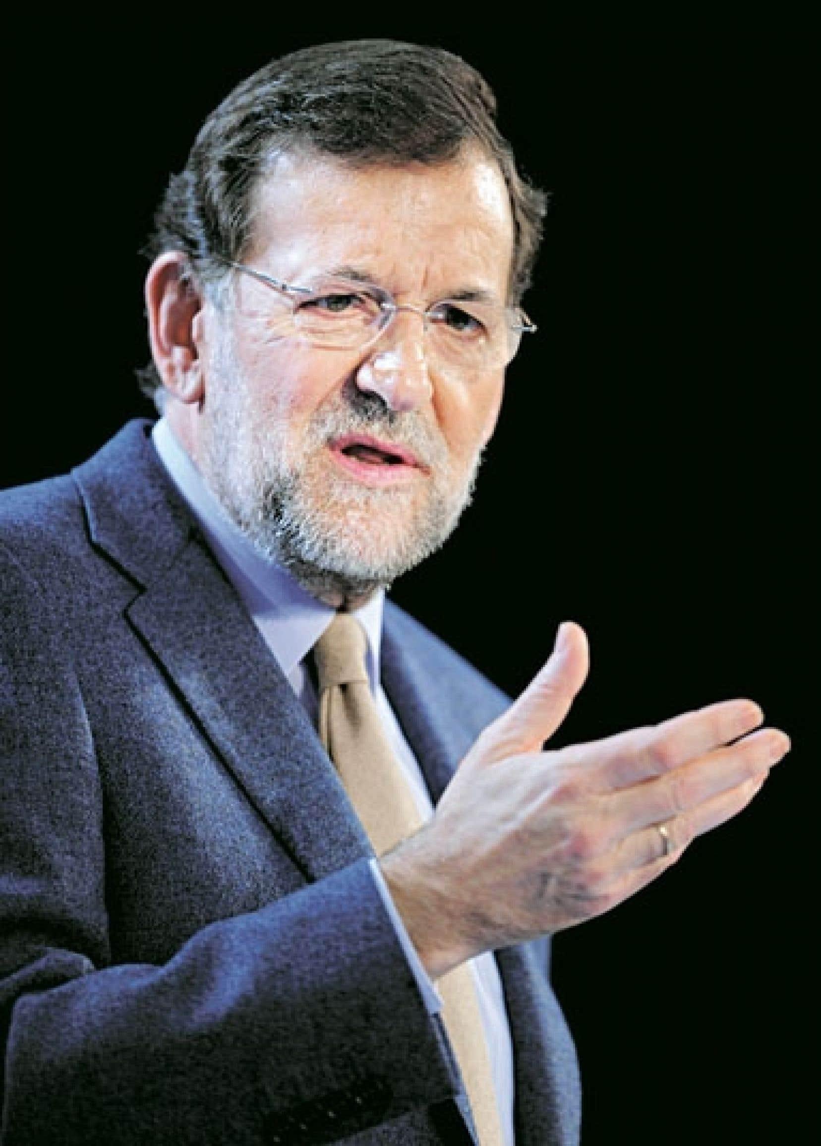<div> Le chef du gouvernement espagnol, Mariano Rajoy</div>