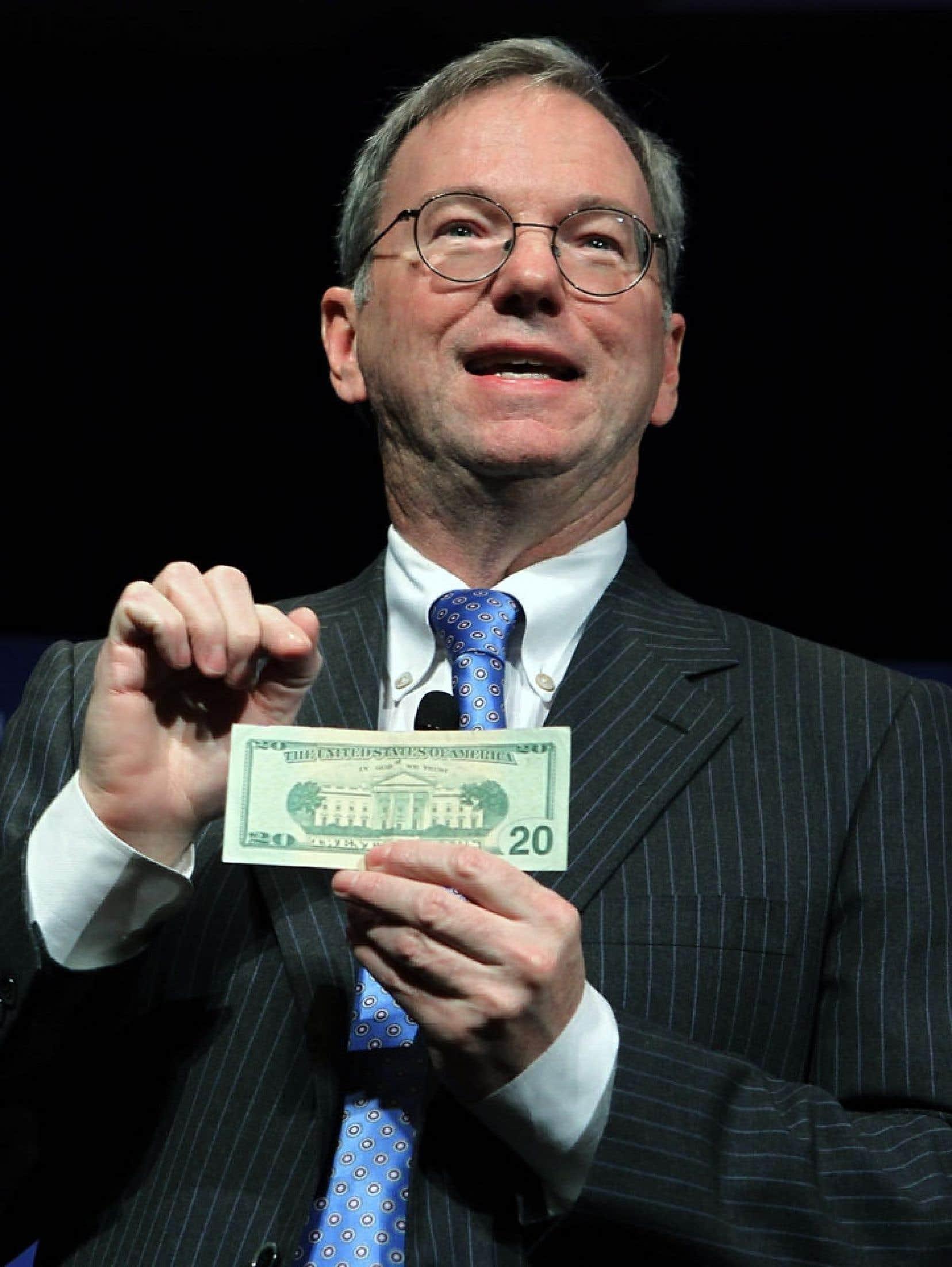 Le grand patron de Google, Eric Schmidt, a admis que « le droit fiscal international gagnerait très vraisemblablement à être réformé ».