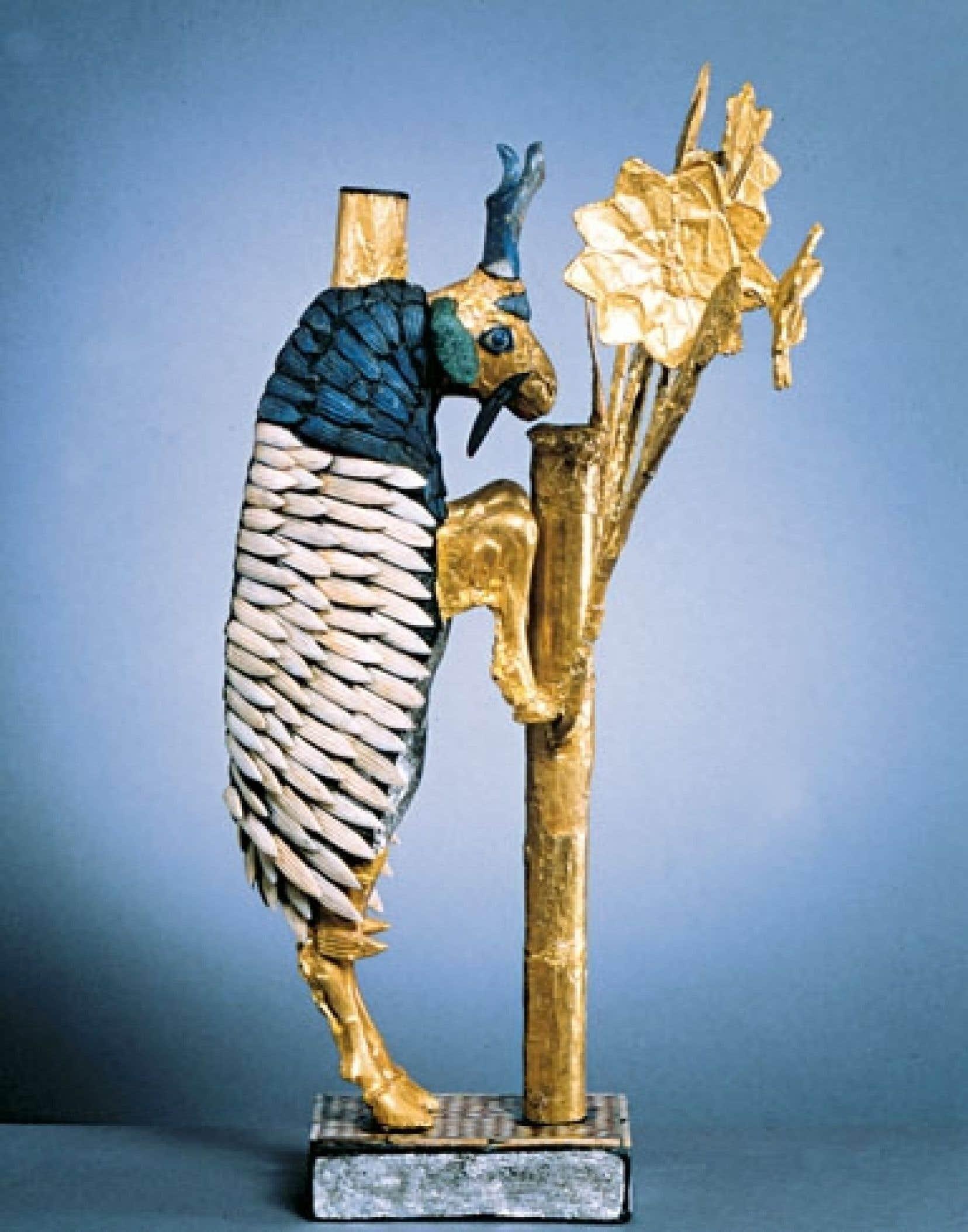 Le Grand bélier d'Ur, 2650-2550 av. notre ère, Ur, Irak, présenté au ROM les trois premiers mois de l'exposition Mésopotamie ou l'invention de notre monde.