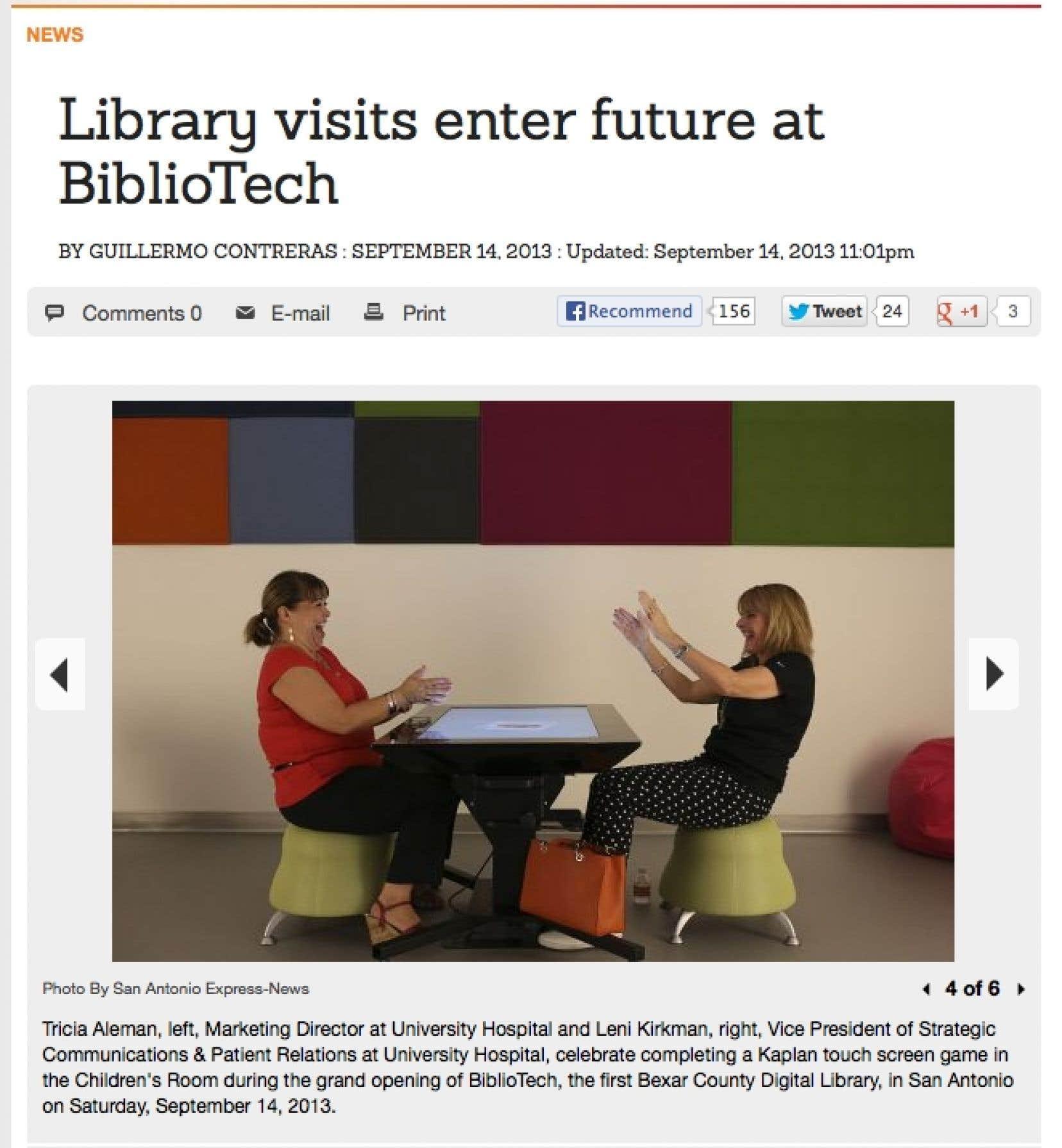 Dans la BiblioTech, la joie peut parfois émerger autour d'une table tactile